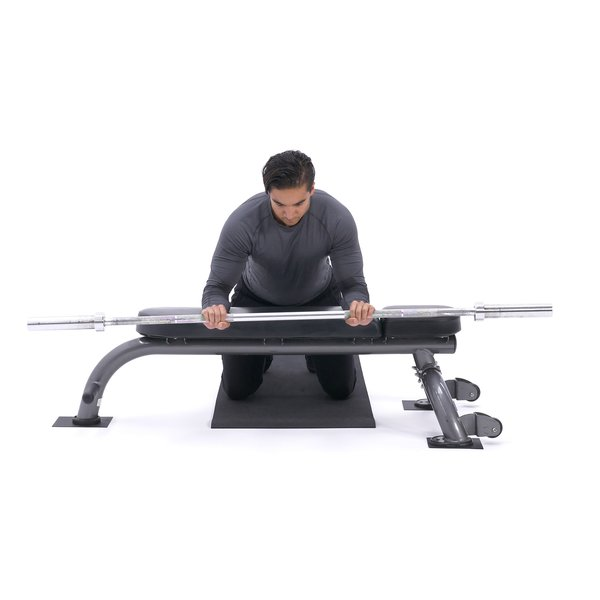 Palms-down wrist curl over bench thumbnail image