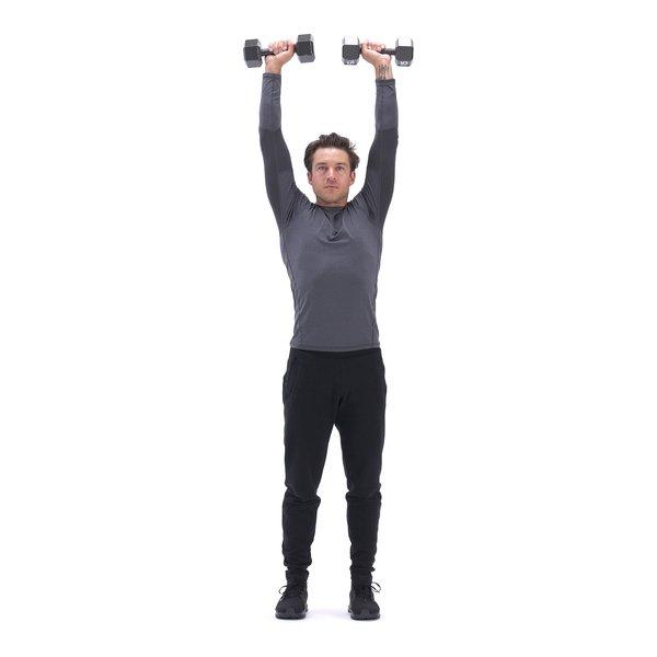 Biceps curl to shoulder press thumbnail image