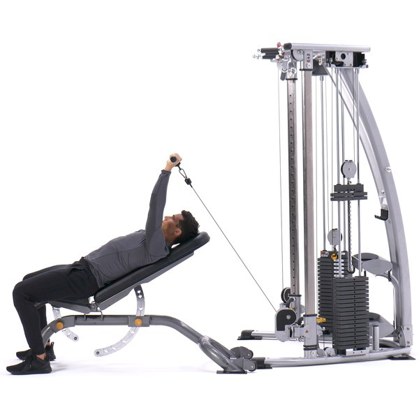 Incline cable straight-bar triceps extension thumbnail image