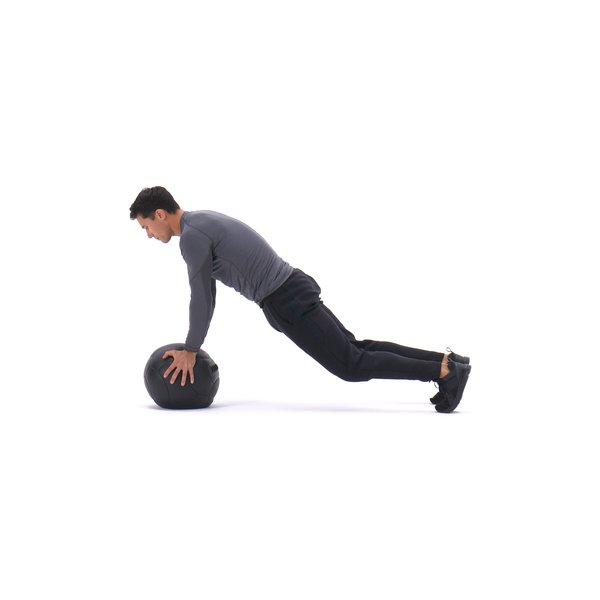 Medicine ball sprawl to chest press thumbnail image