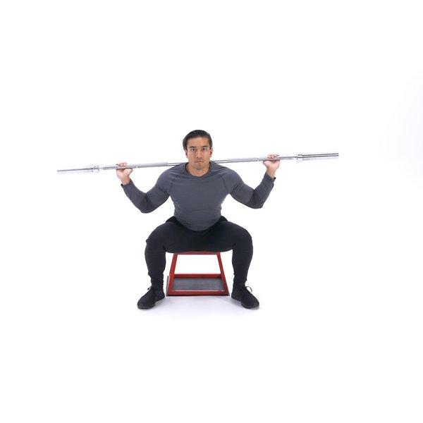 Barbell back squat to box thumbnail image