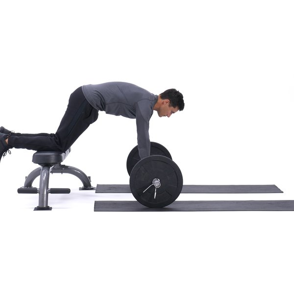 Bench barbell roll-out thumbnail image