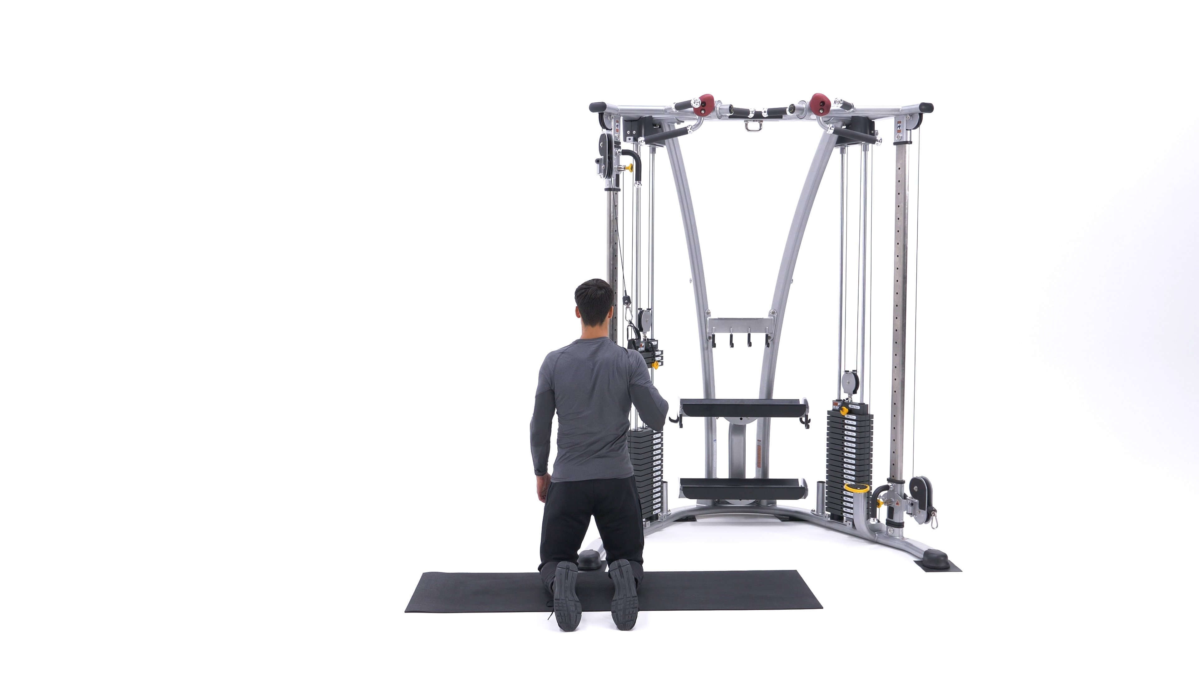 Single-arm kneeling lat pull-down image