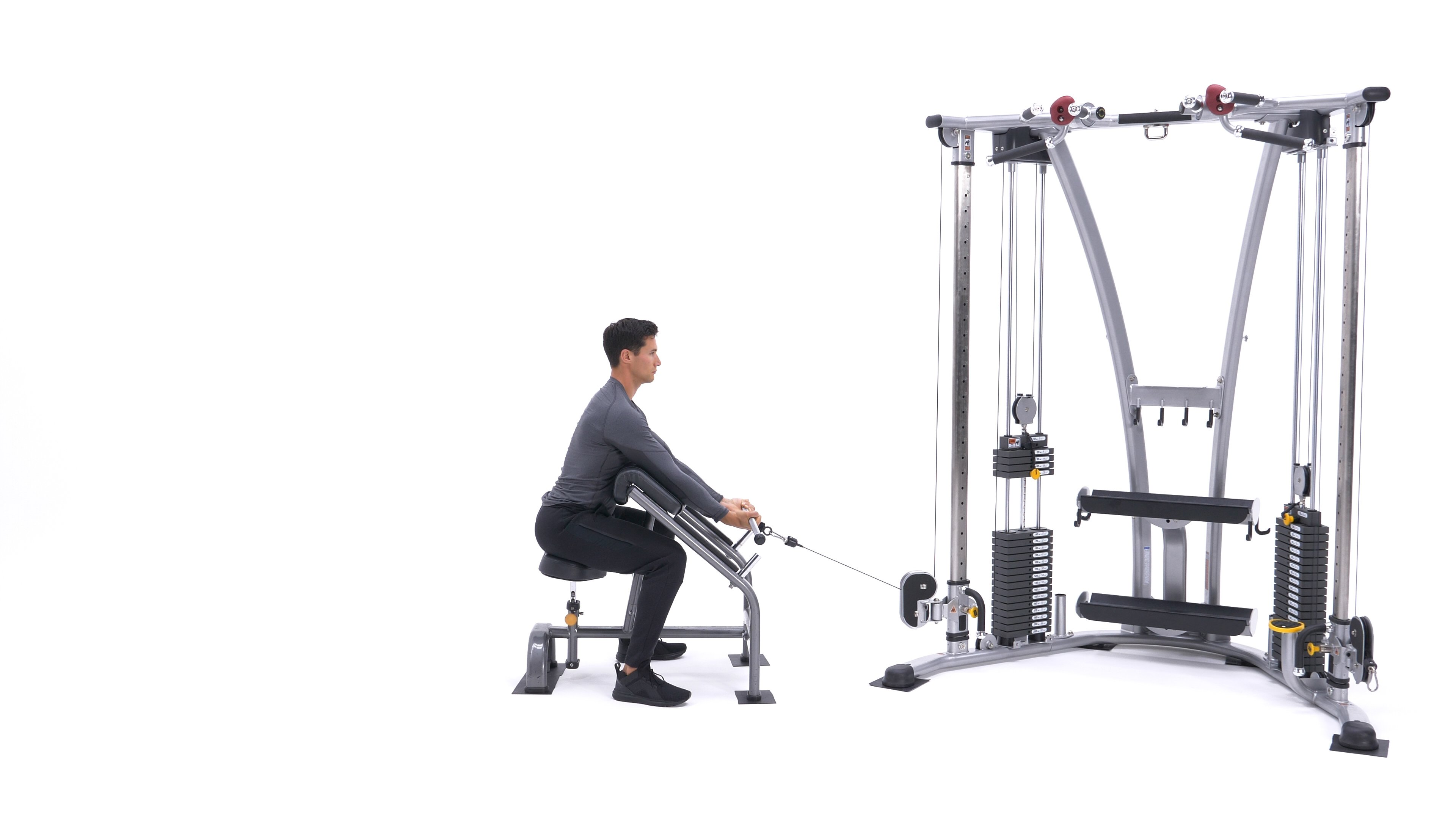 Cable rope preacher hammer curl image