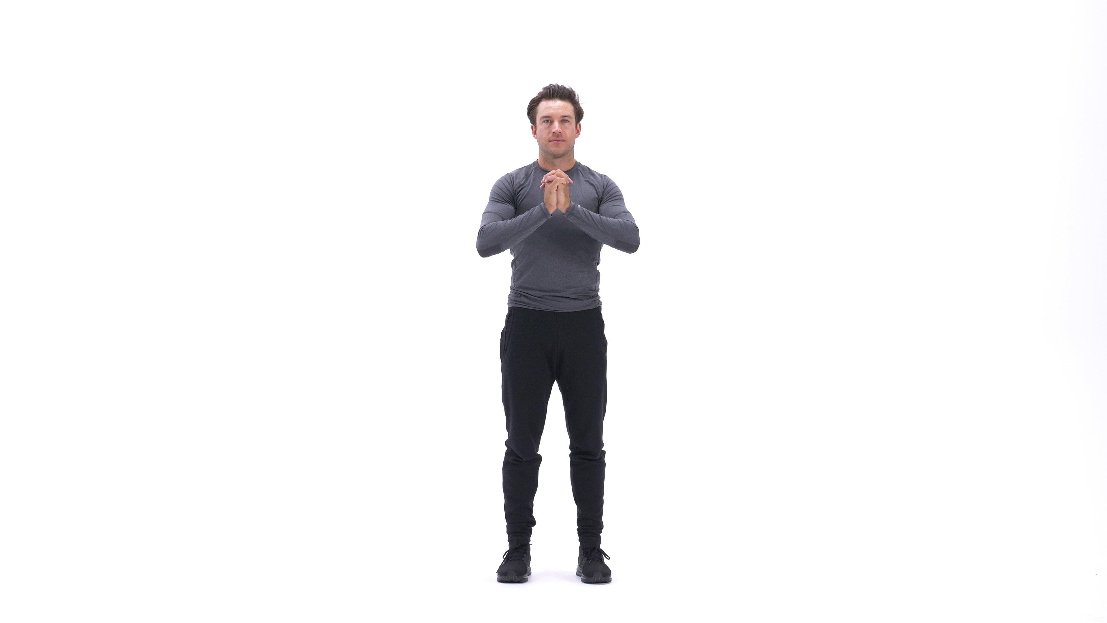 Standing torso twist stretch image