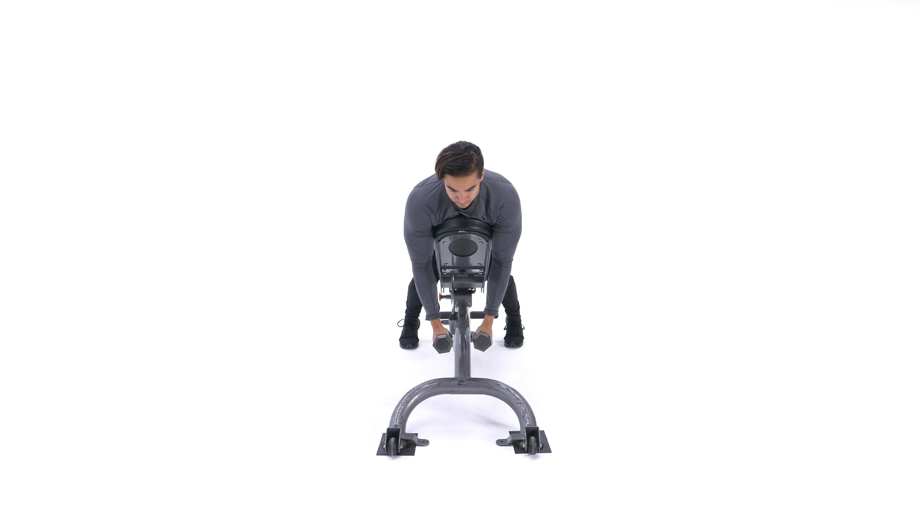 Incline dumbbell reverse fly image