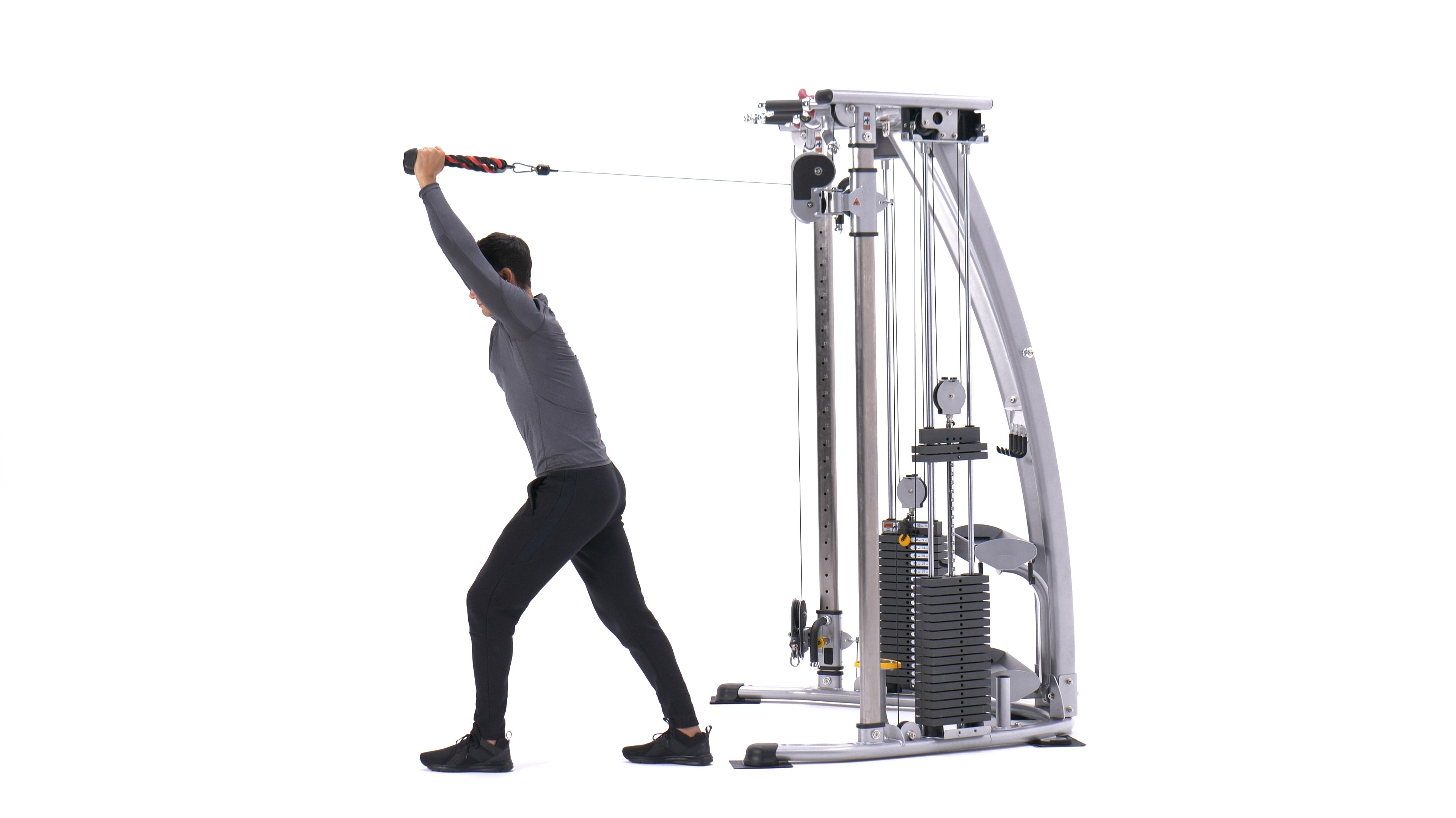 Cable overhead triceps extension image
