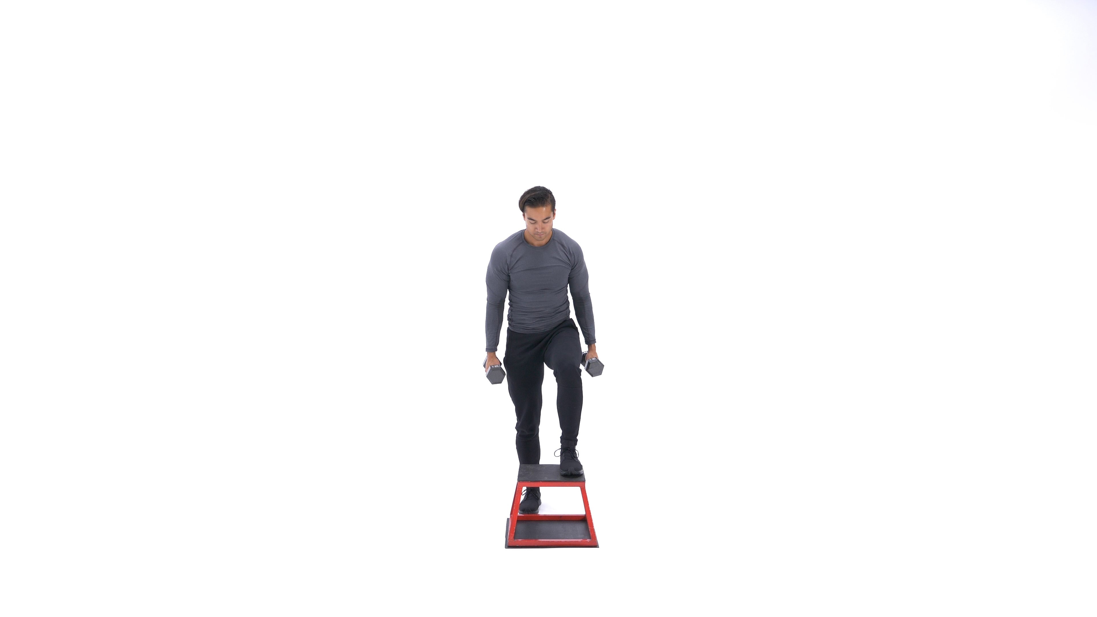 Dumbbell step-up image