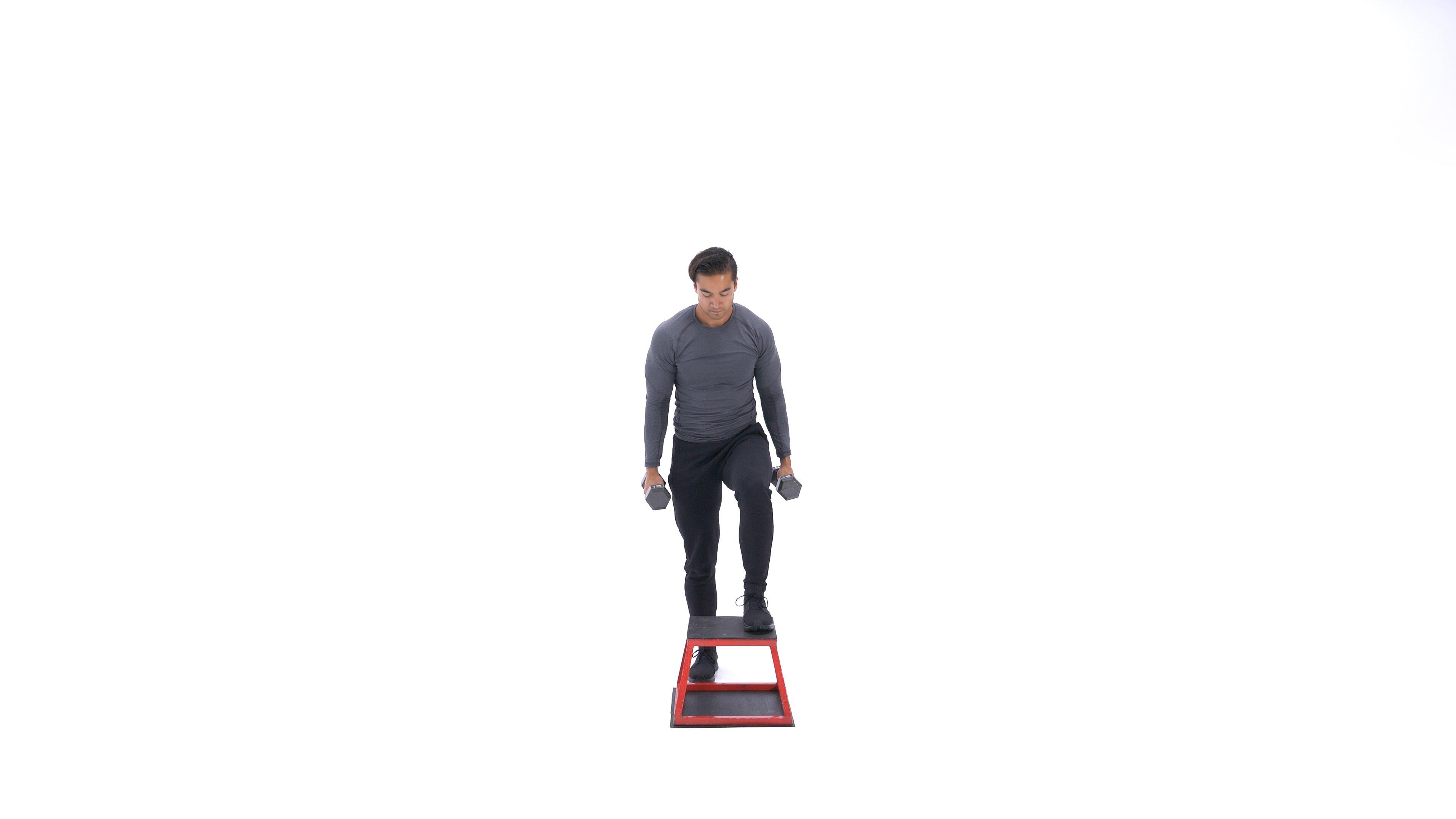 Dumbbell step-up image