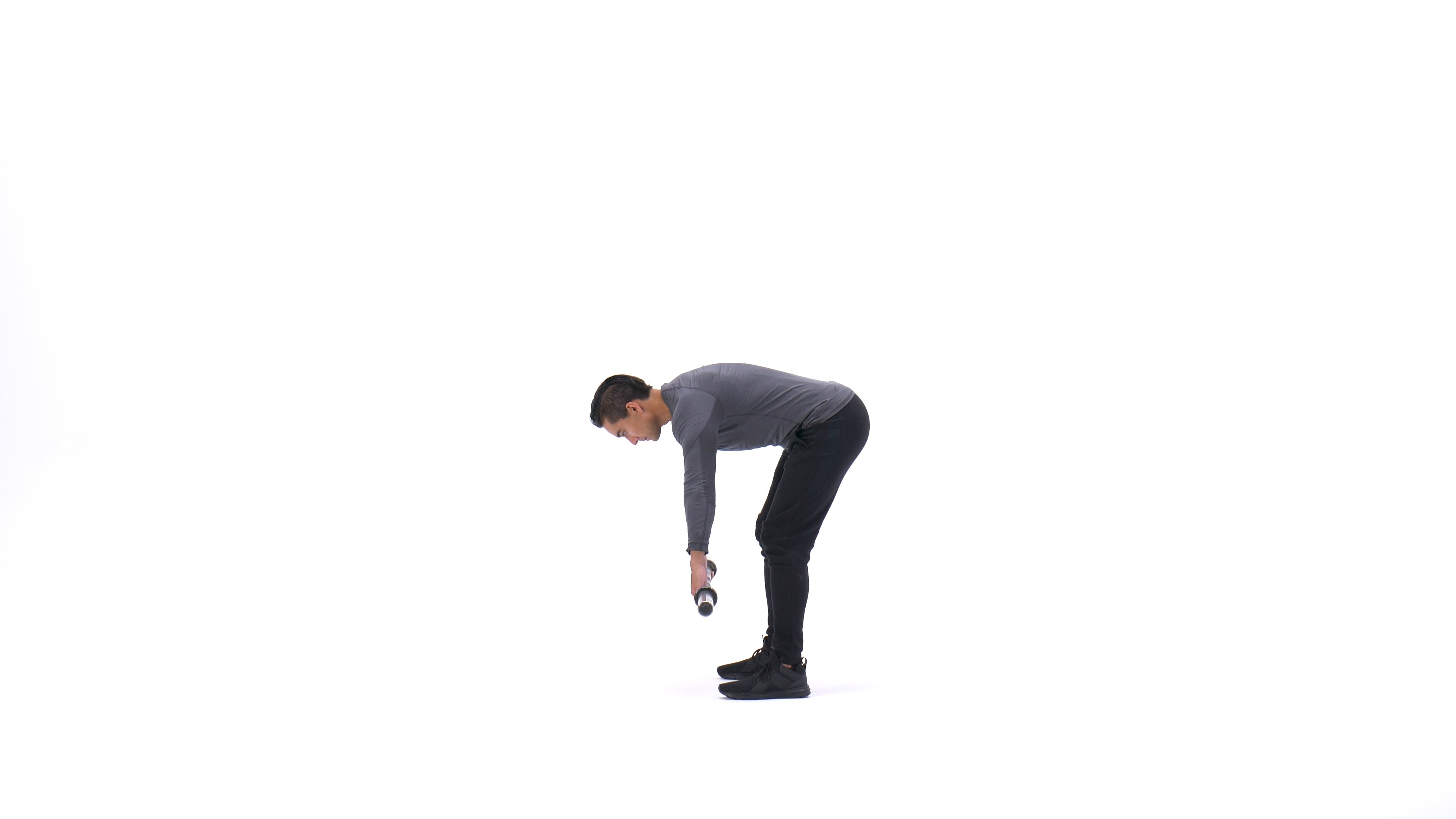 Barbell rear delt bent-over row image