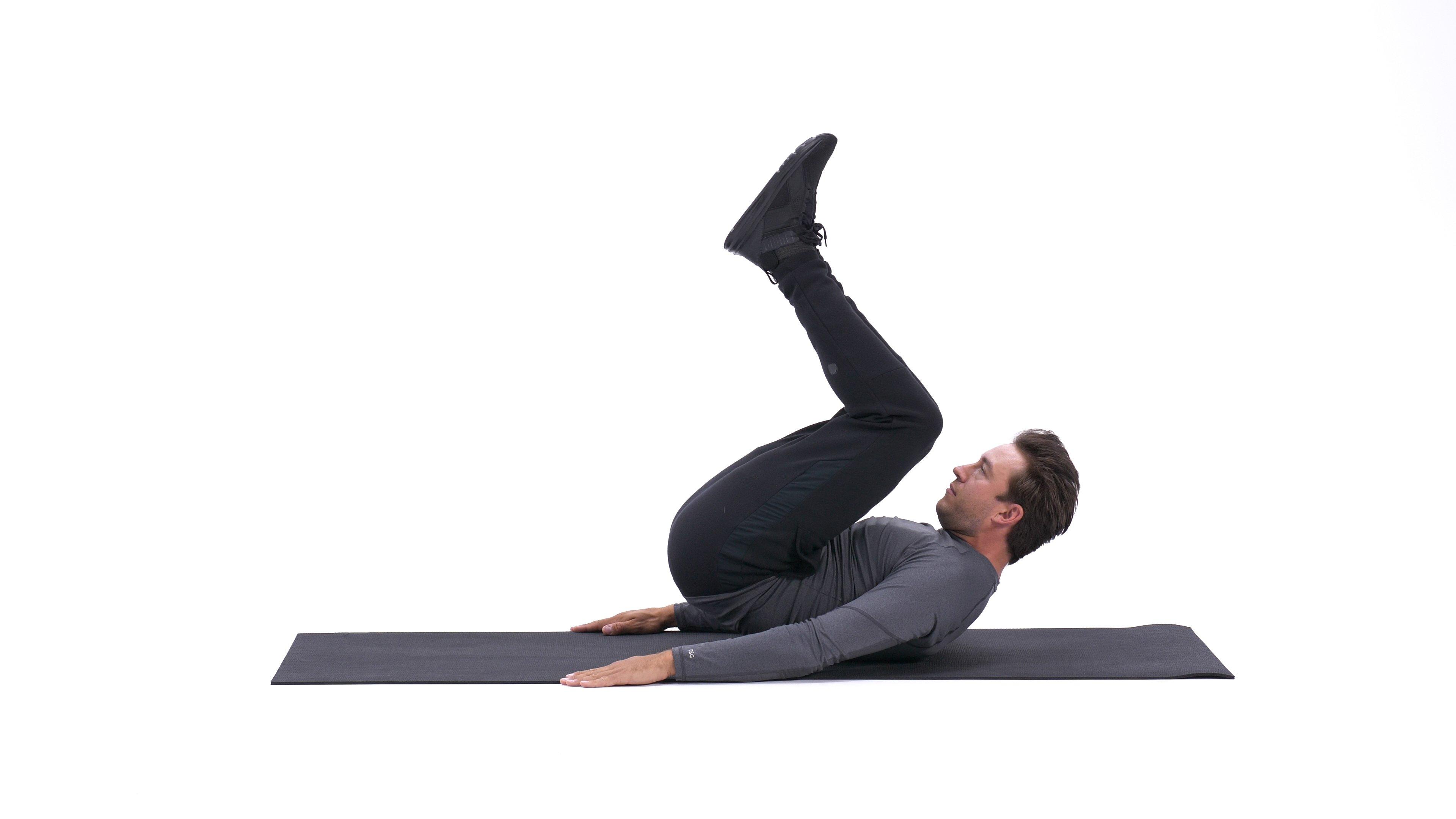 Bent-knee reverse crunch image