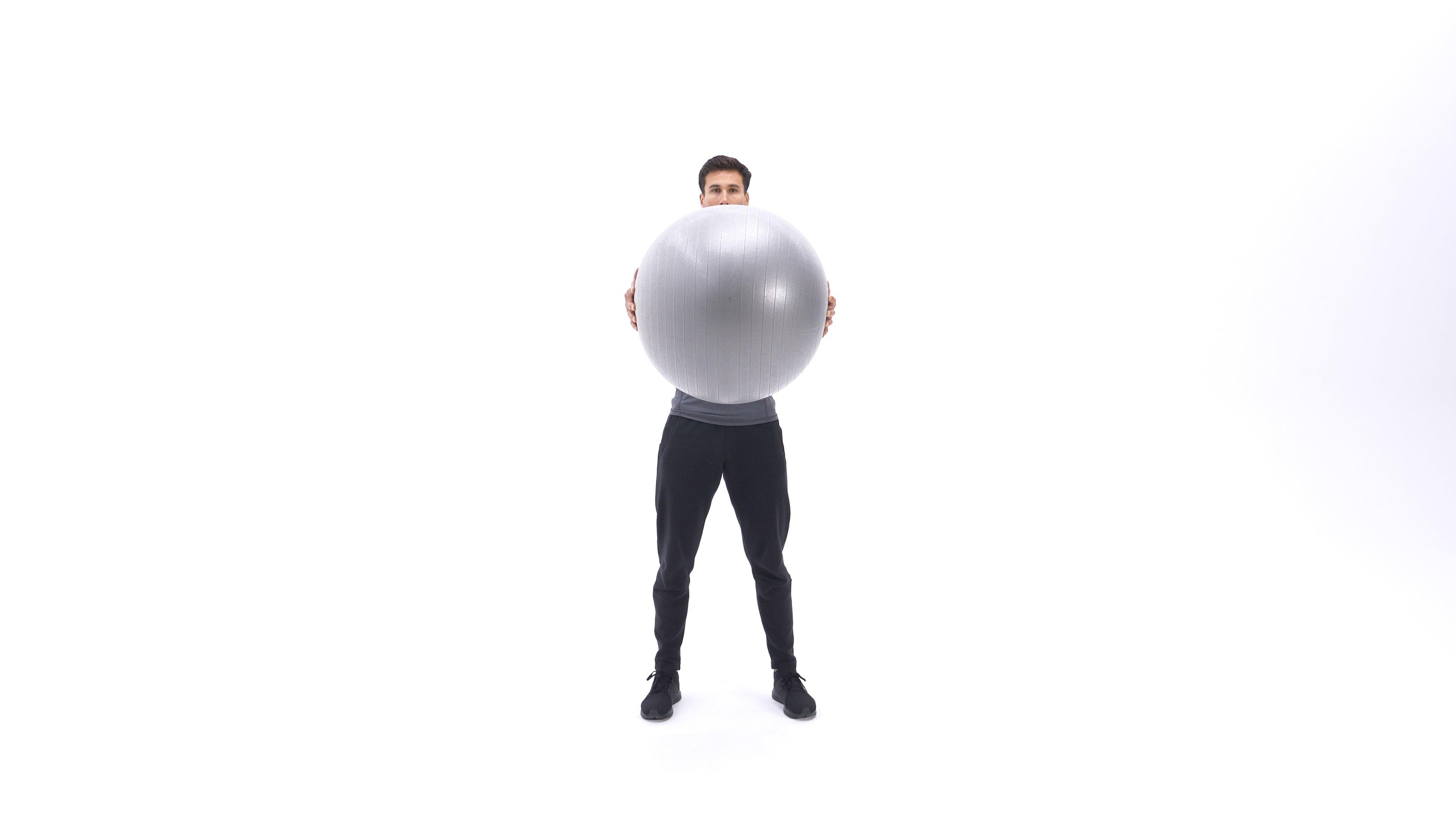 Exercise ball torso rotation image