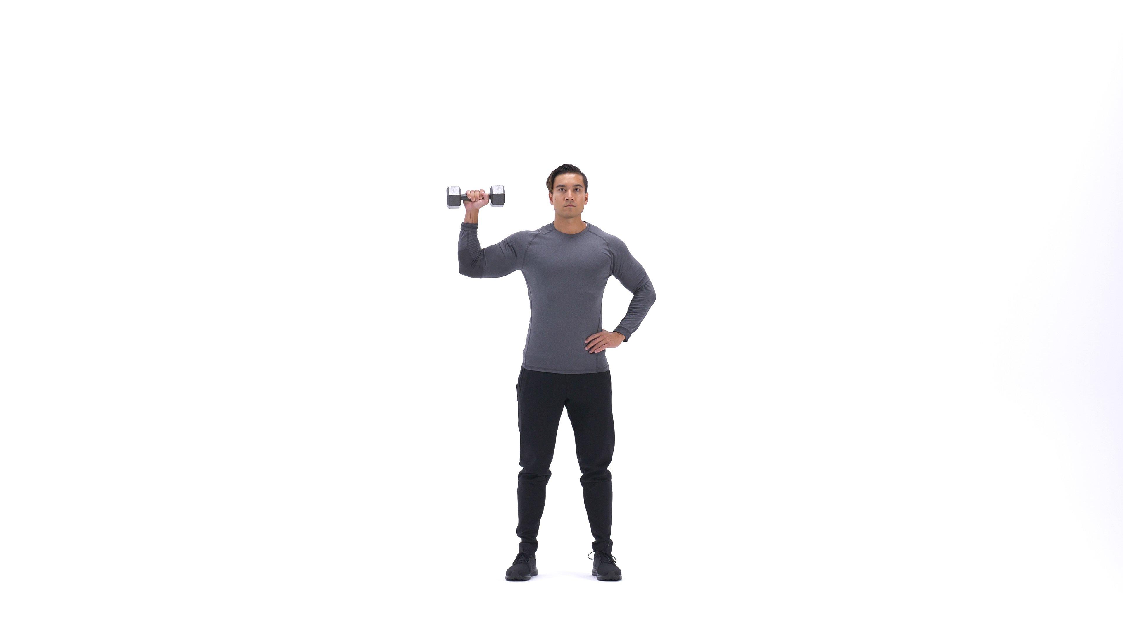 Single-arm standing shoulder press image