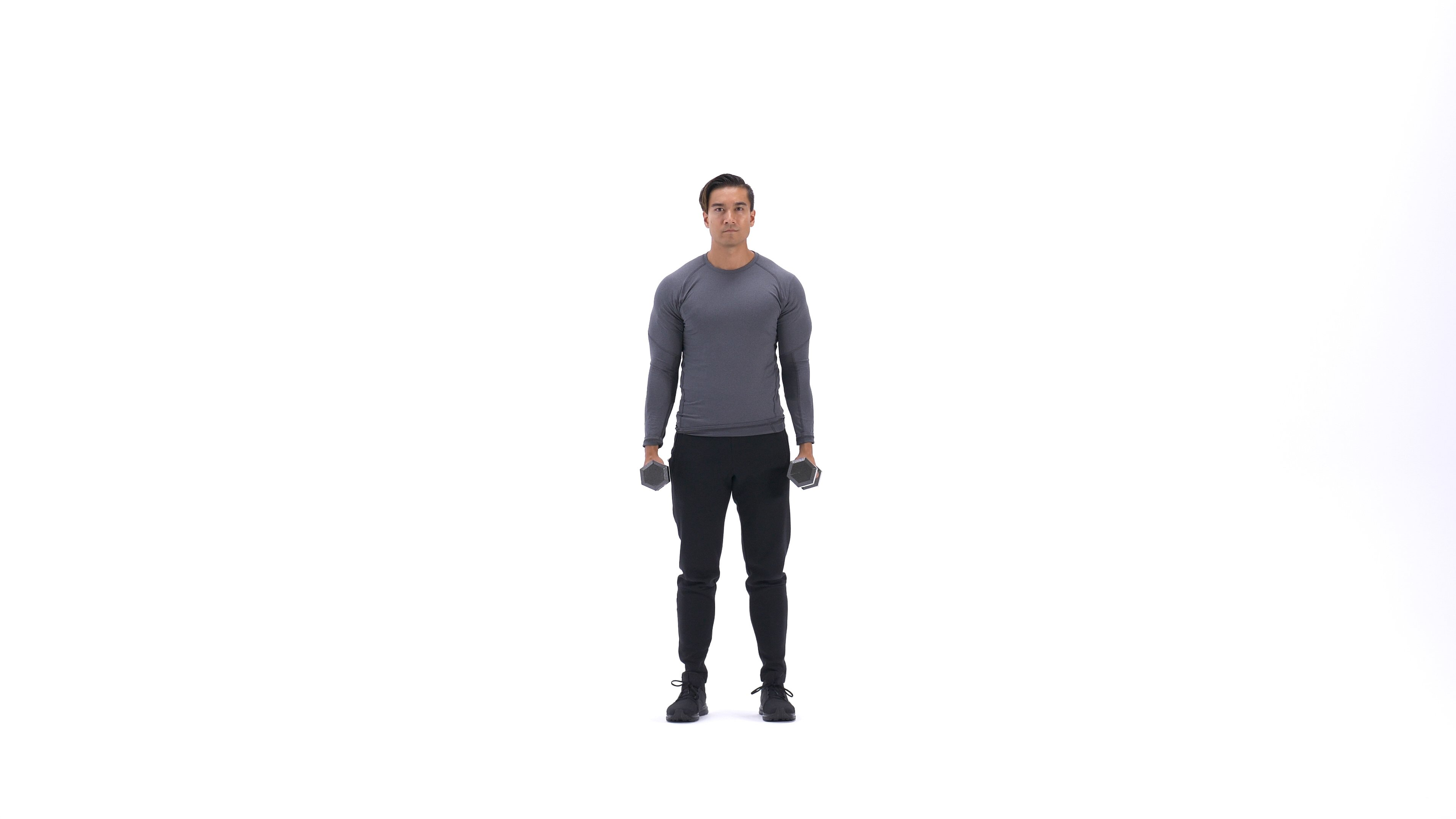 Standing dumbbell shrug image