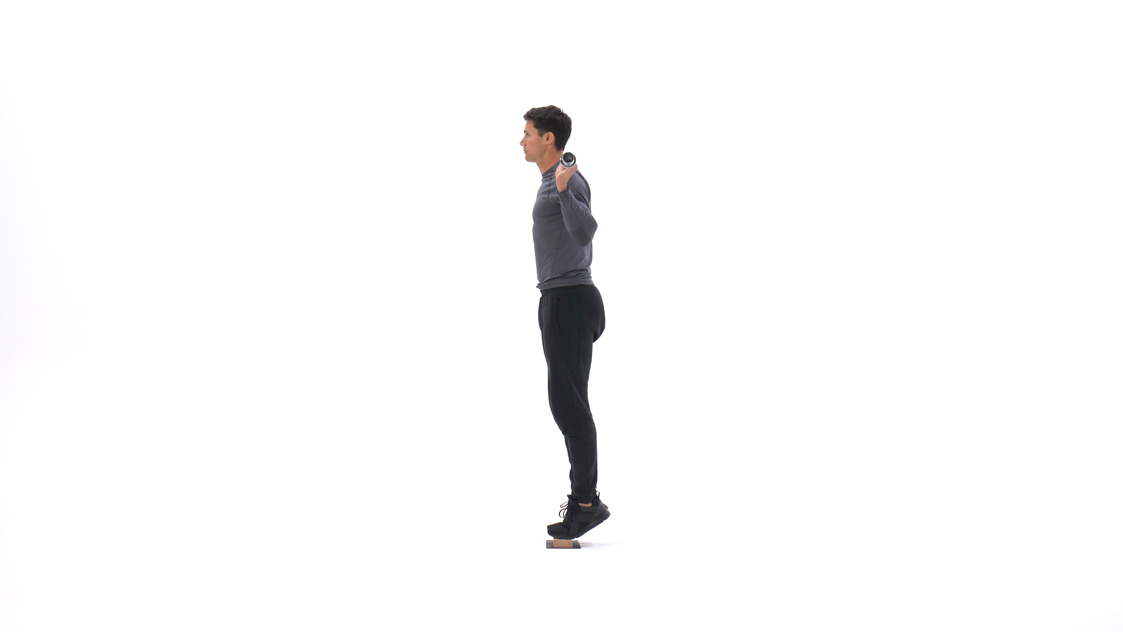 Standing barbell calf raise image