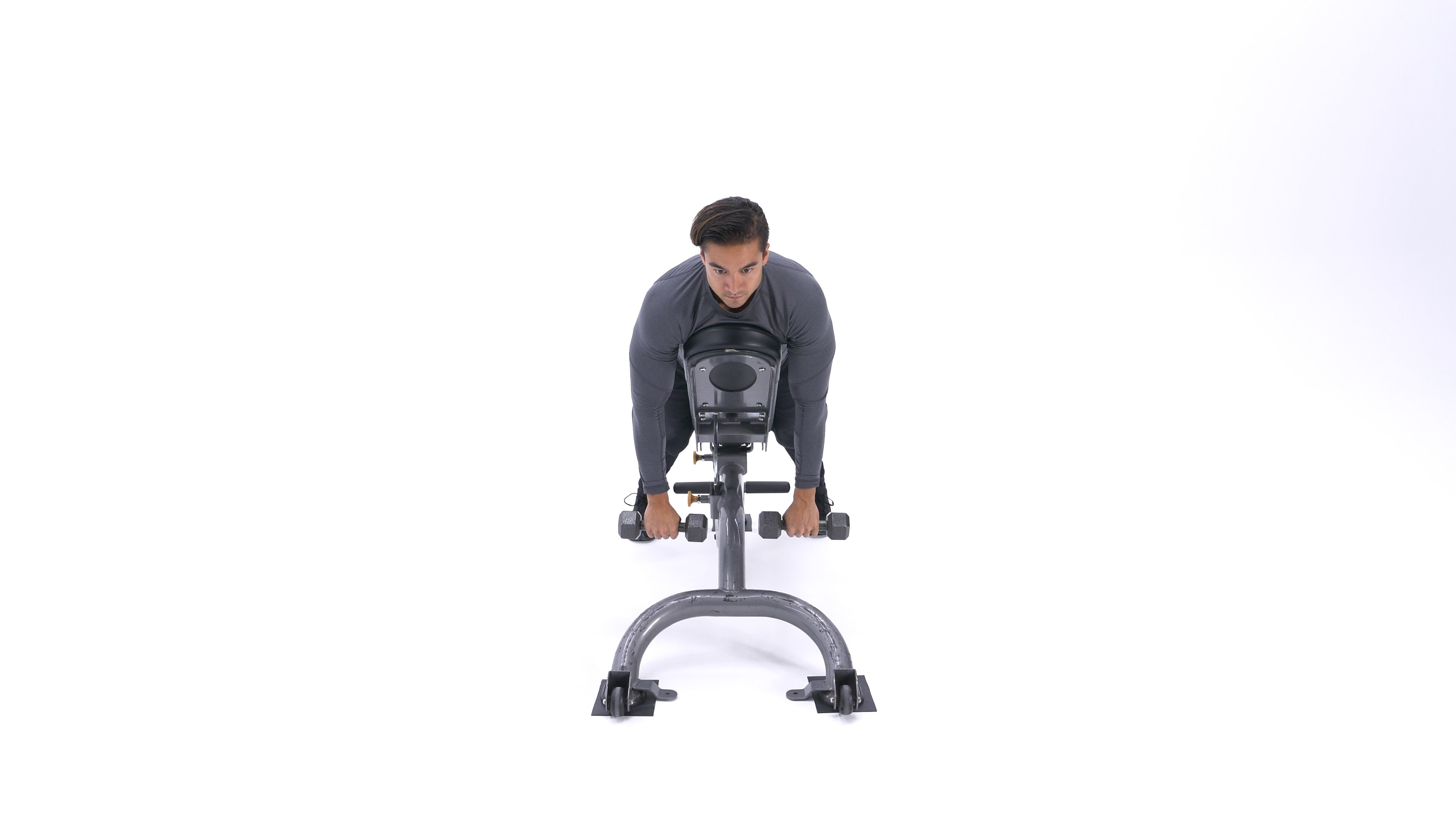 Incline dumbbell front raise image