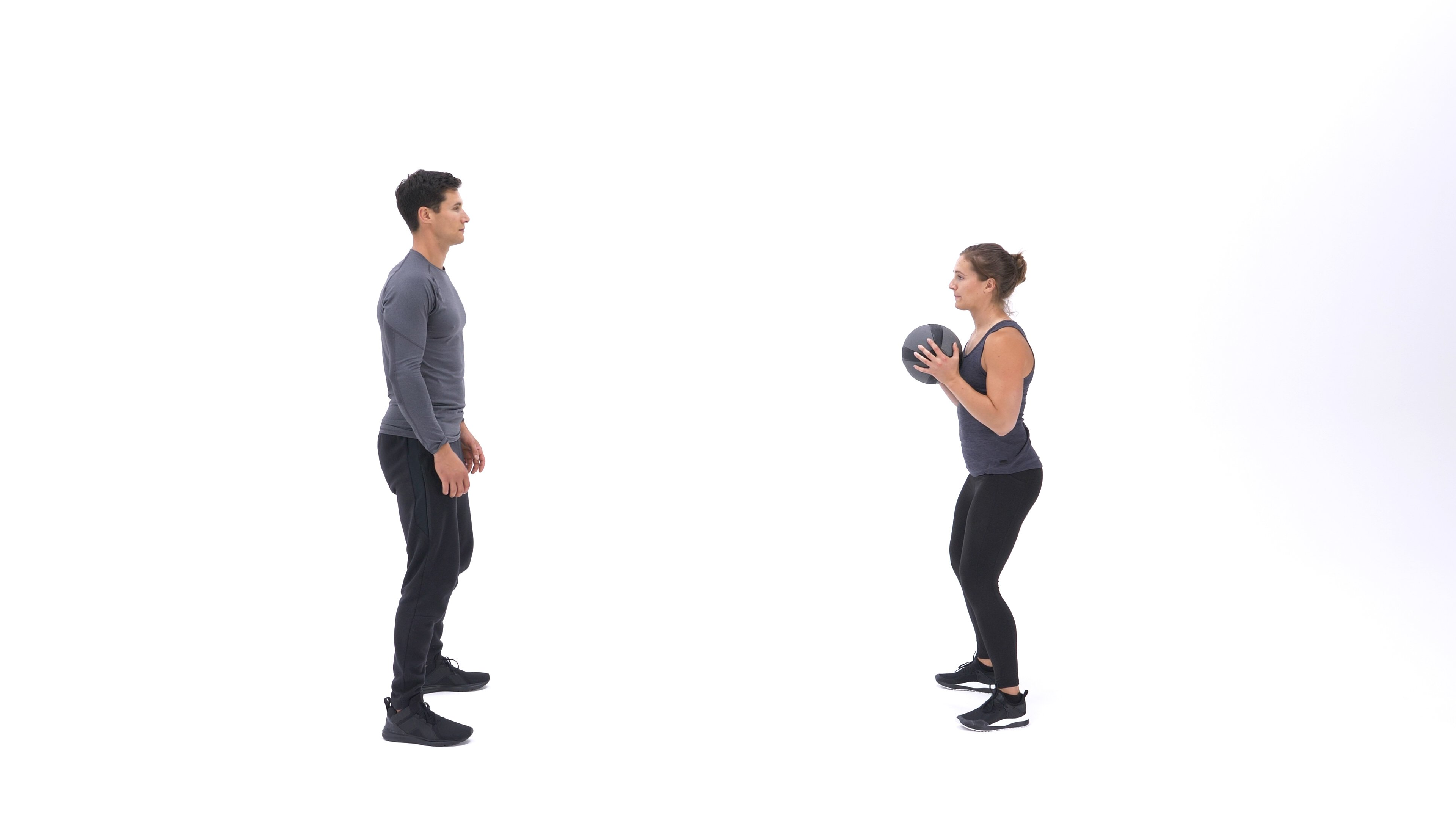 Medicine Ball Chest Pass image