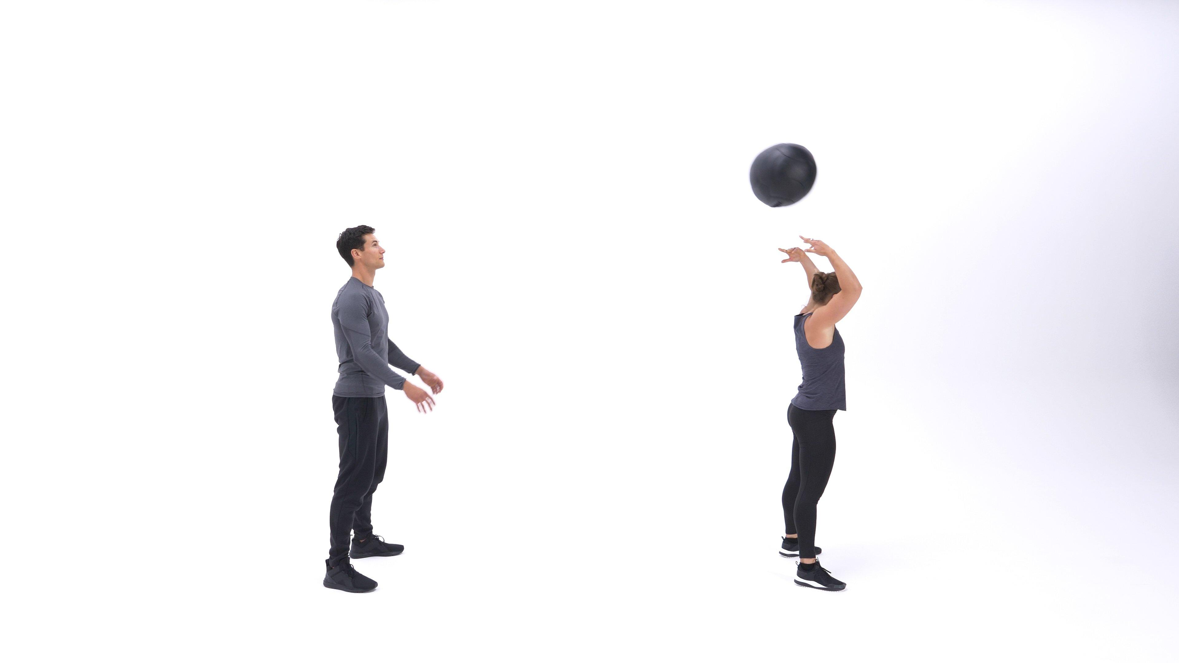 Medicine ball scoop throw image