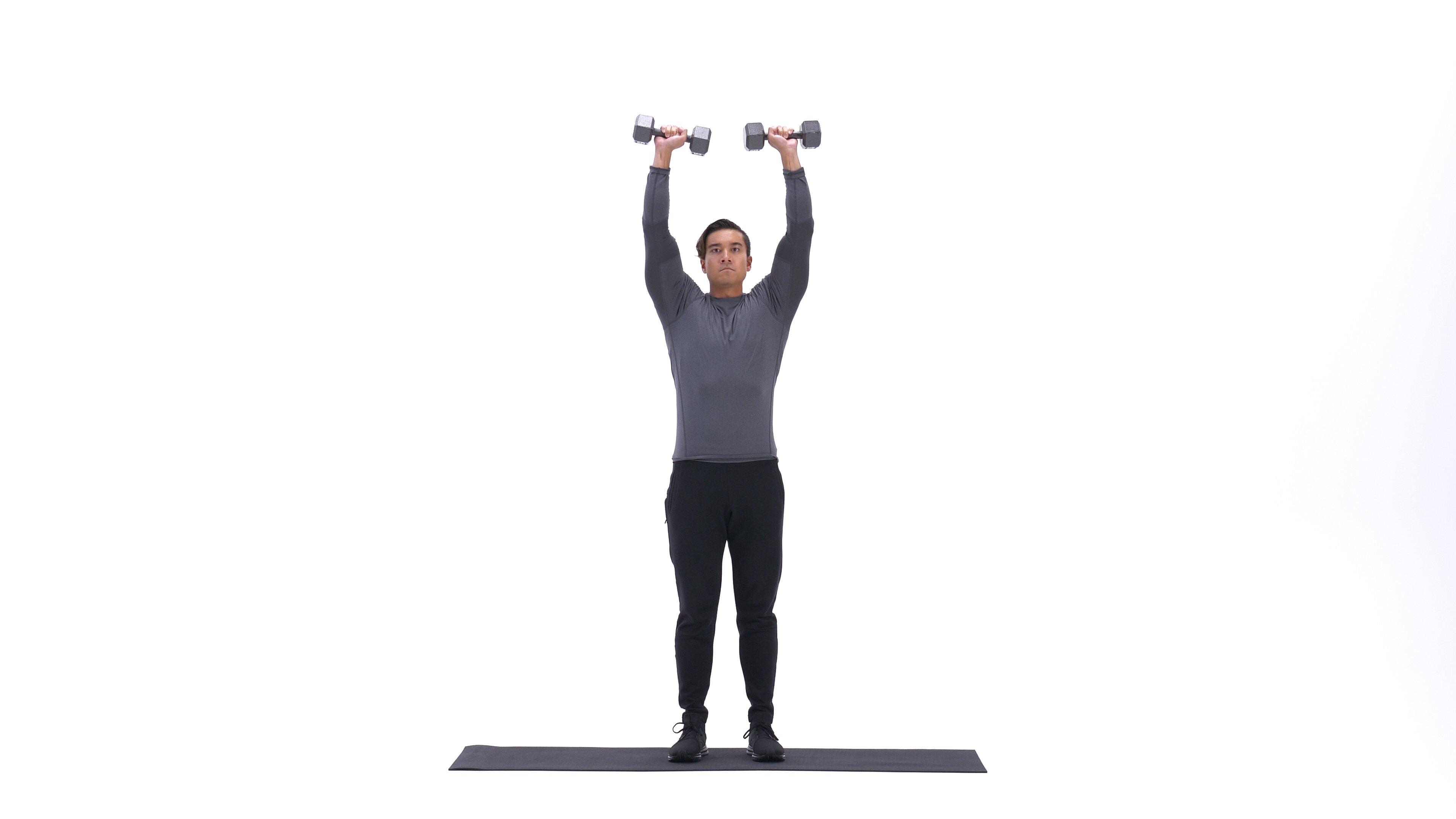 Dumbbell clean and press image