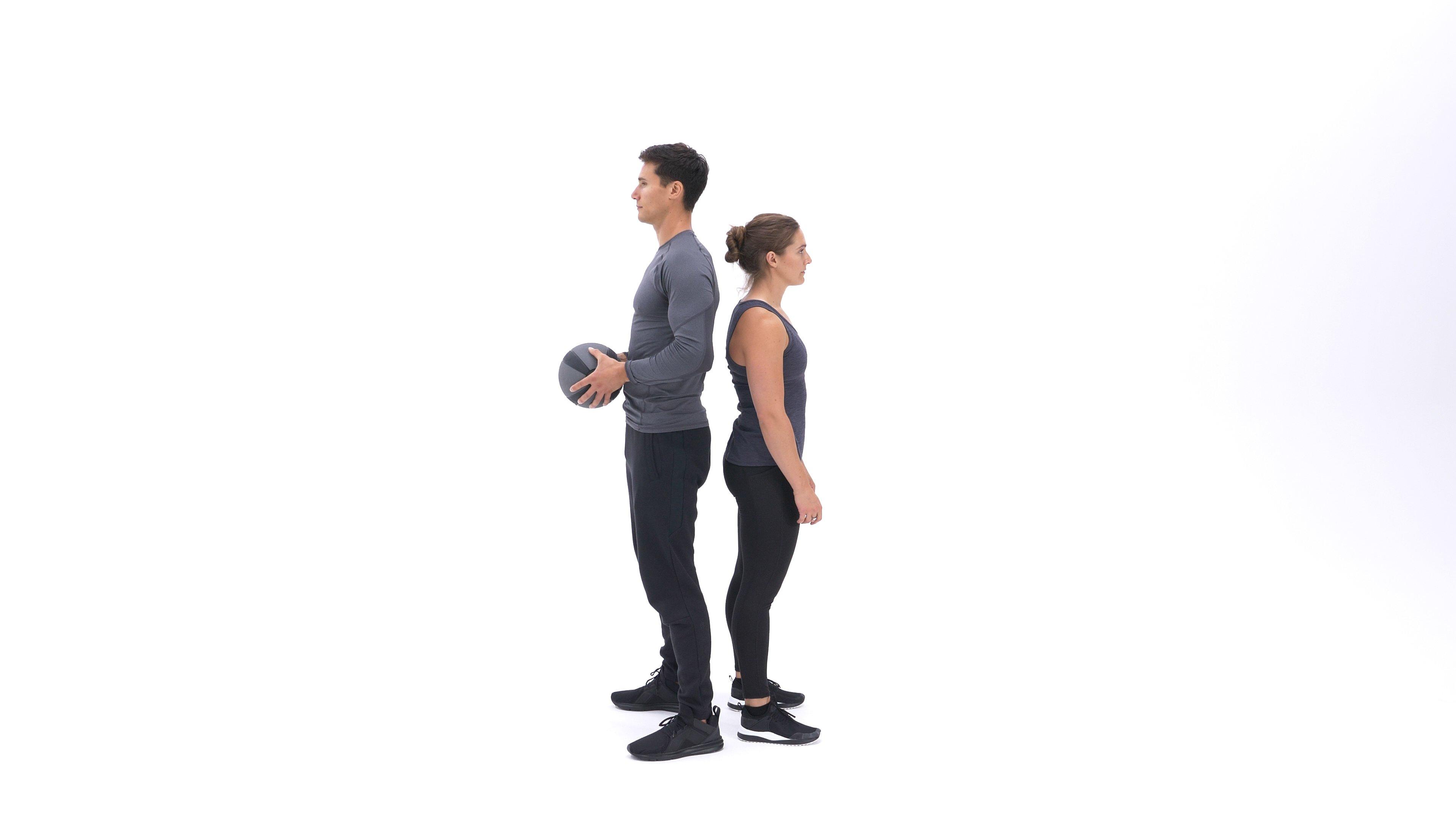 Medicine ball partner twist image