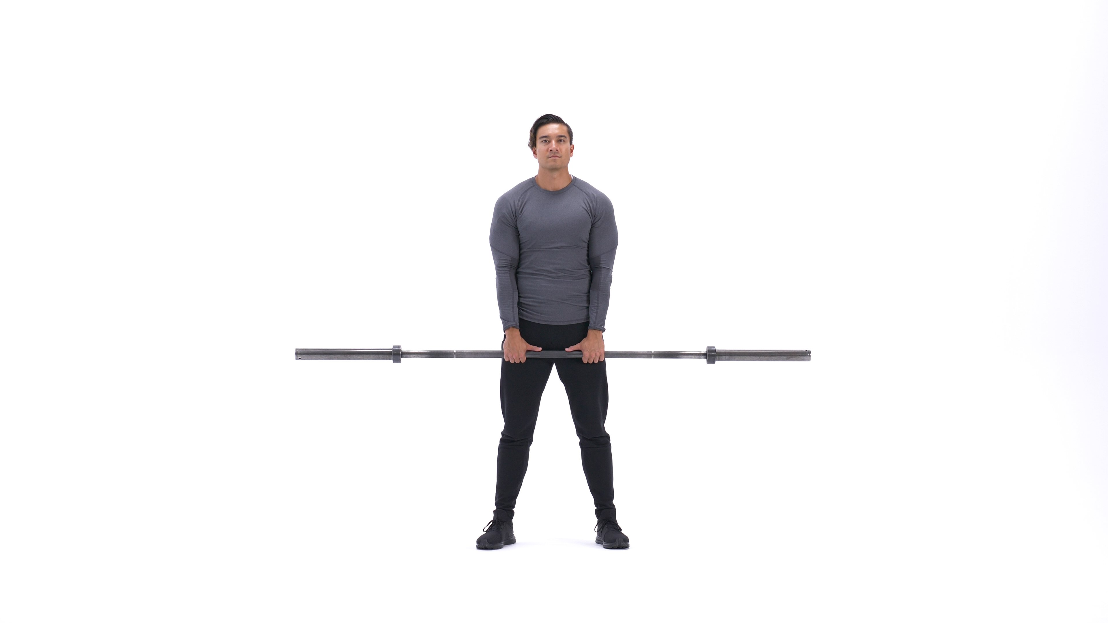 Barbell upright row image