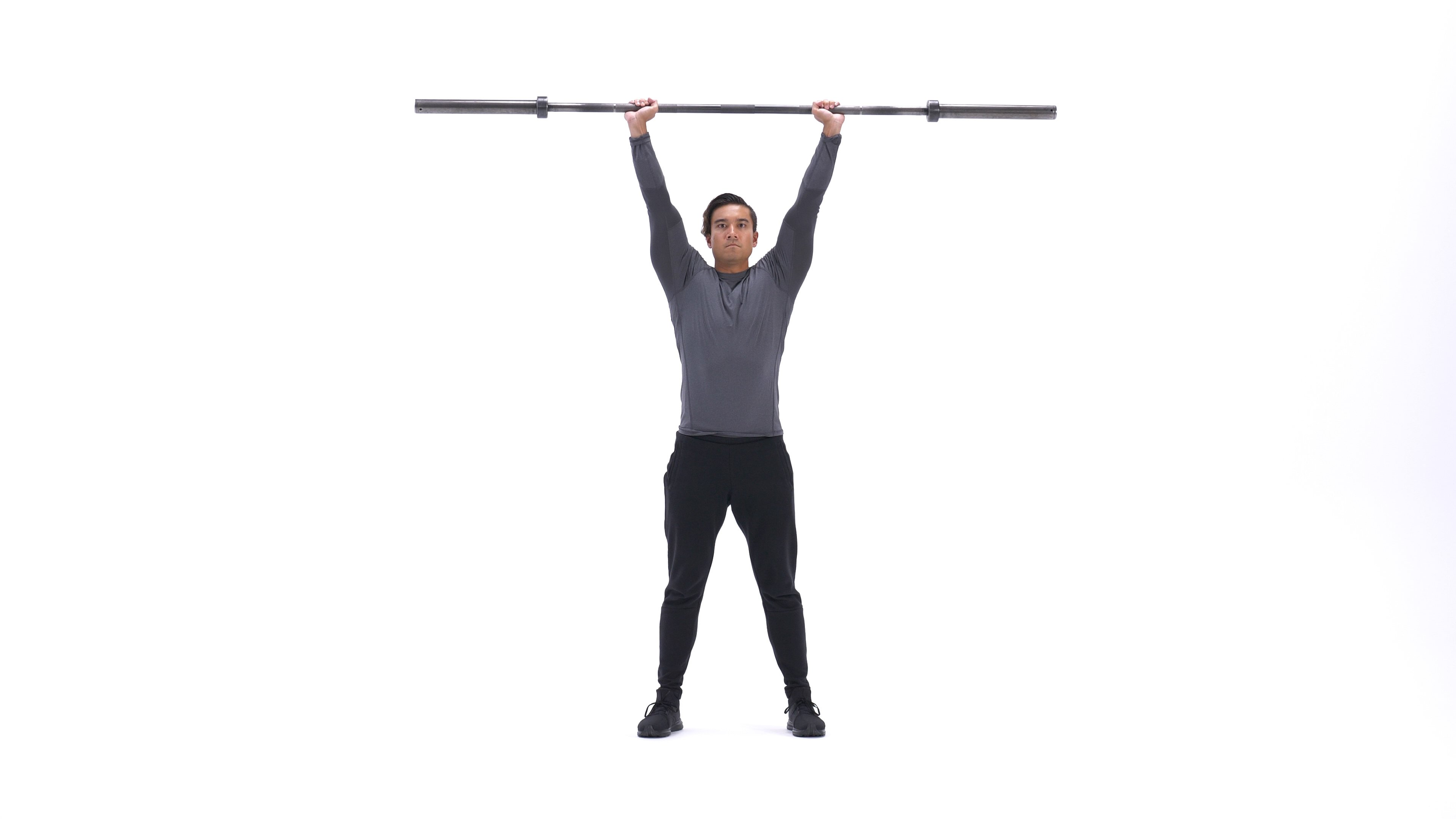 Barbell thruster image