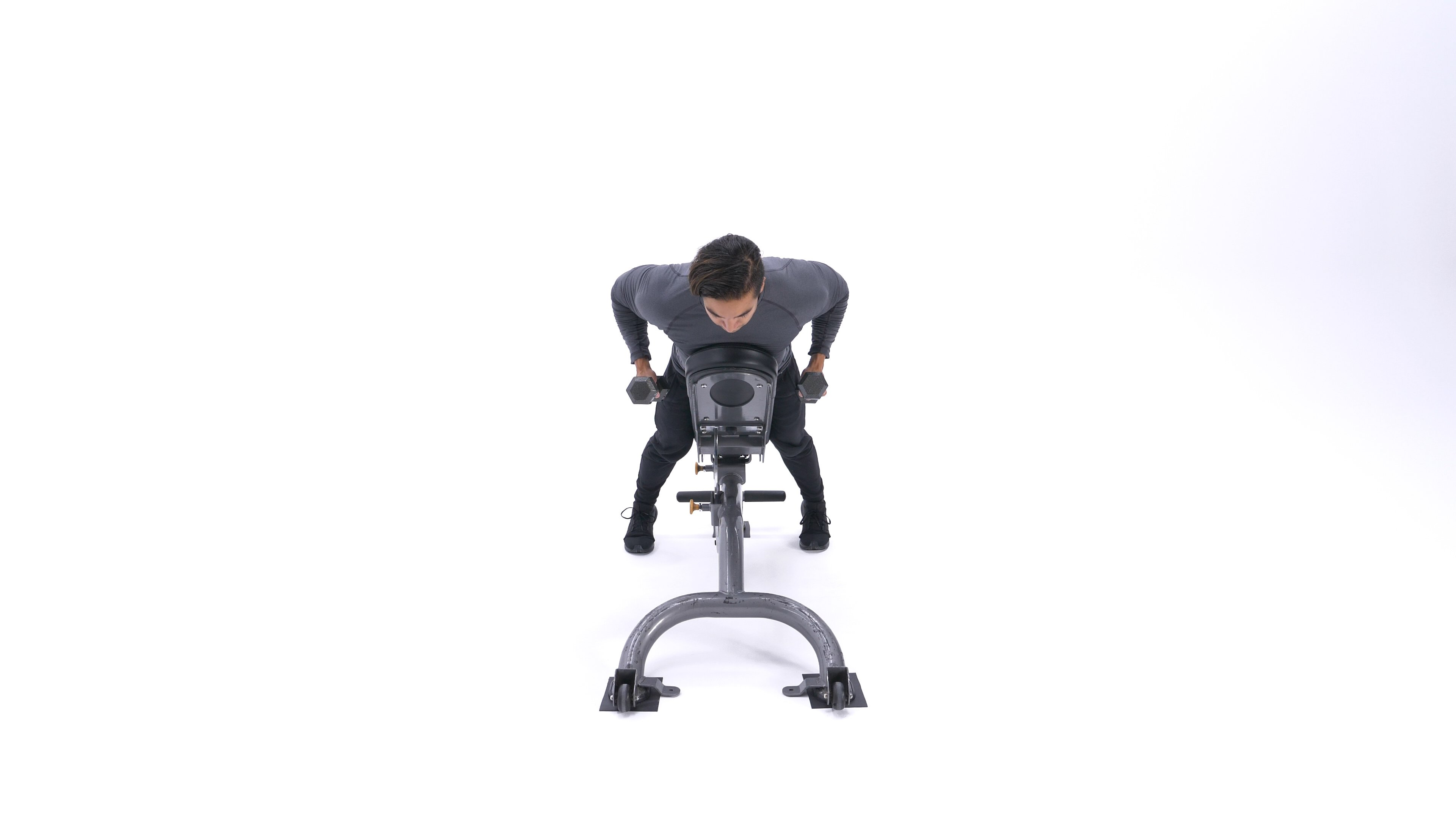 Incline dumbbell row image