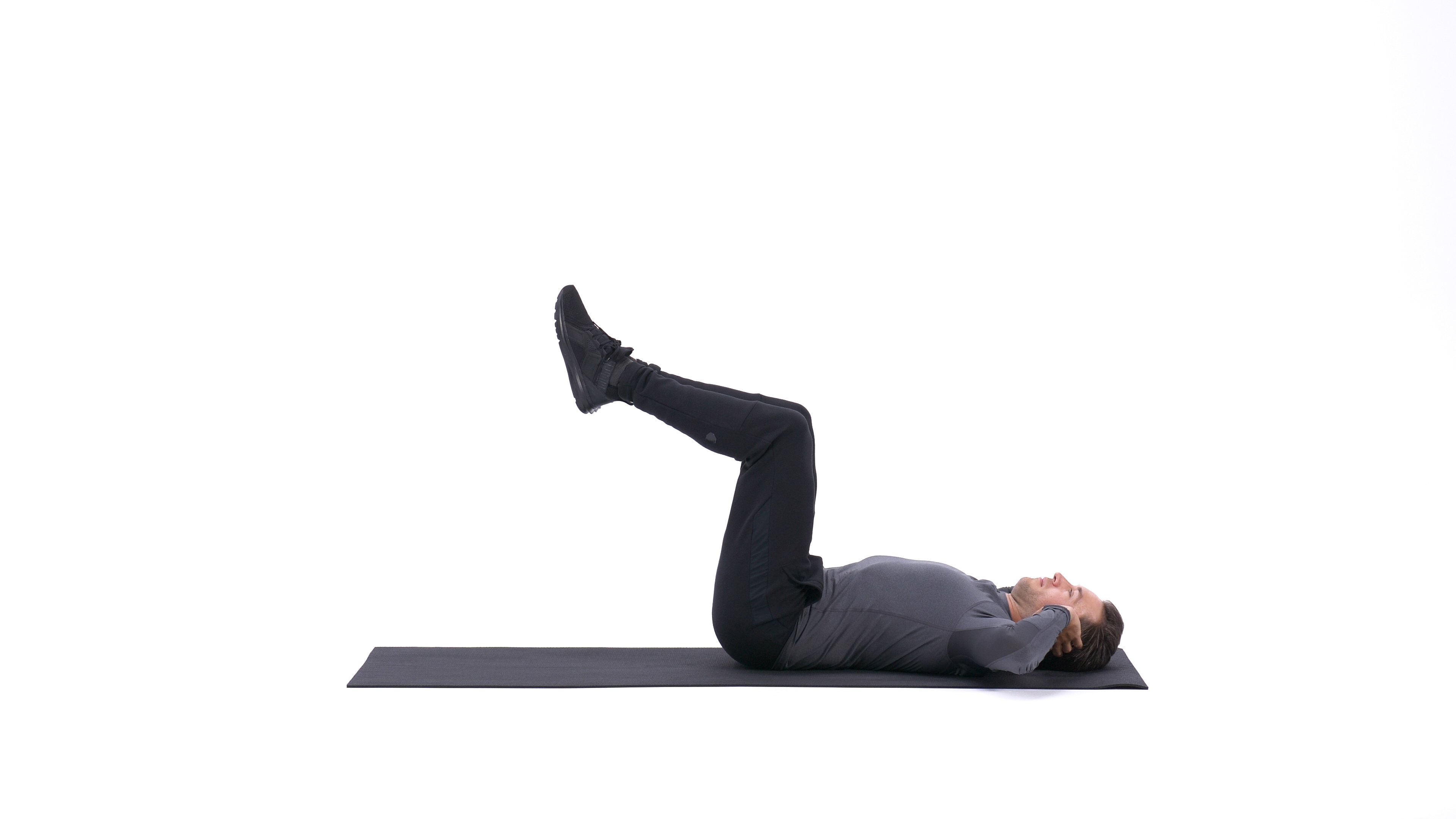 Knees tucked crunch image