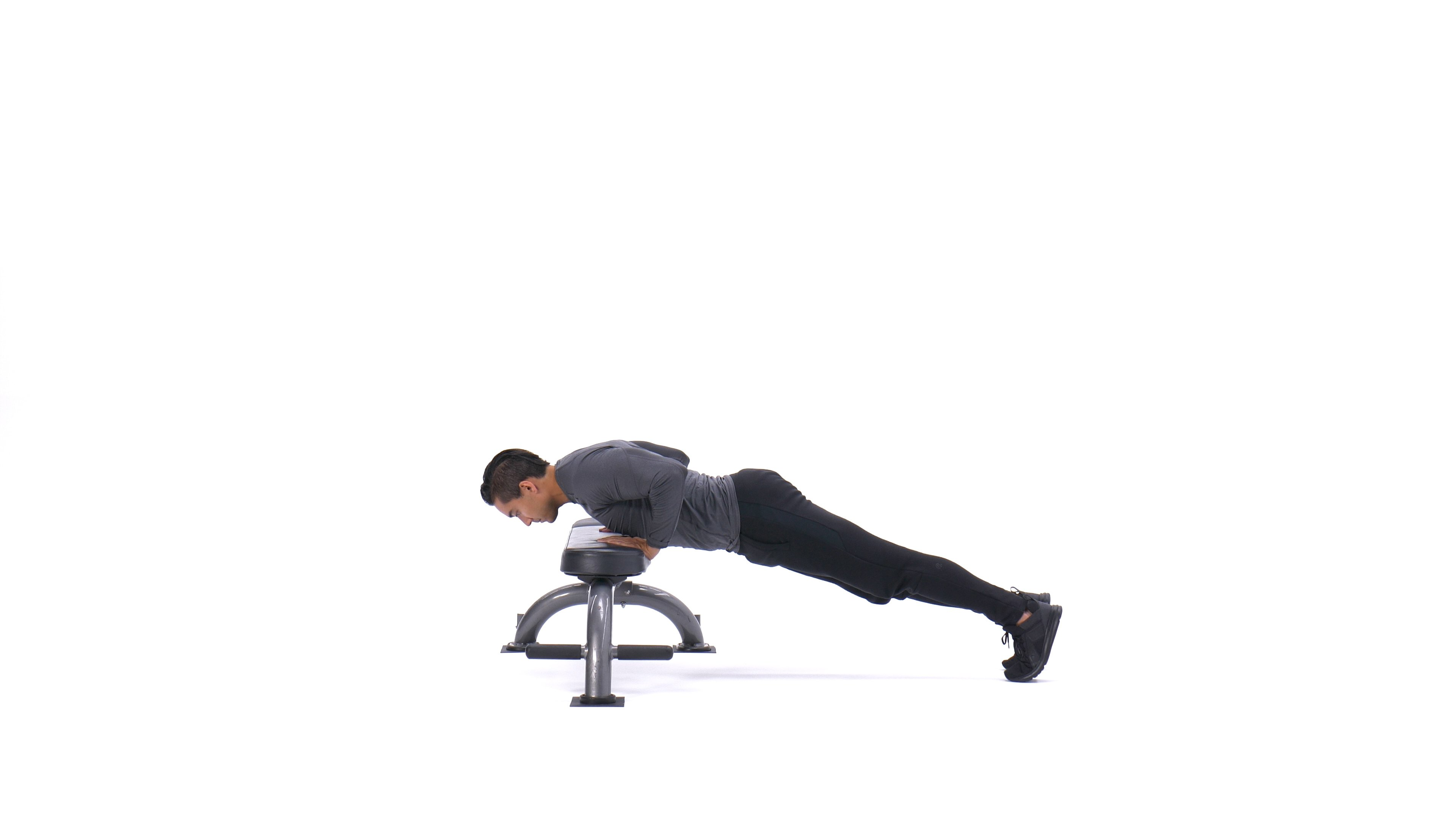Close-grip hands-elevated push-up image
