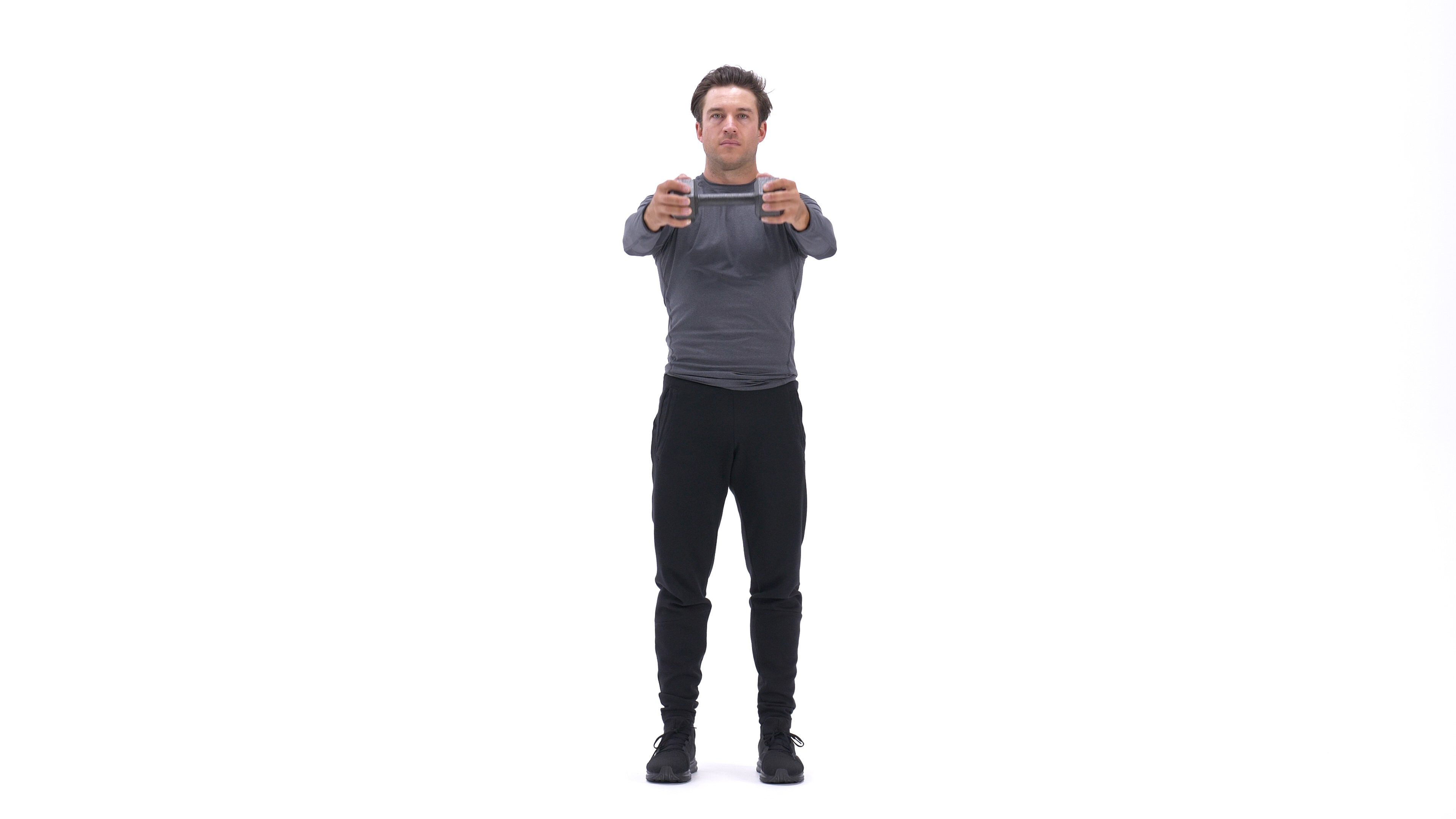 Single-dumbbell front raise image