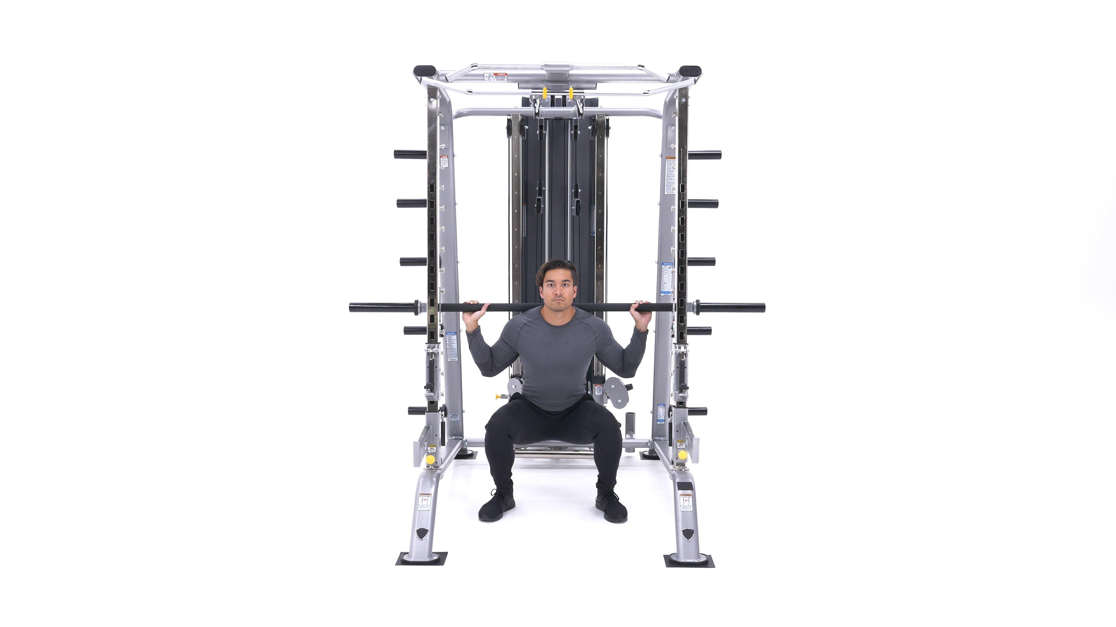 Smith machine back squat image