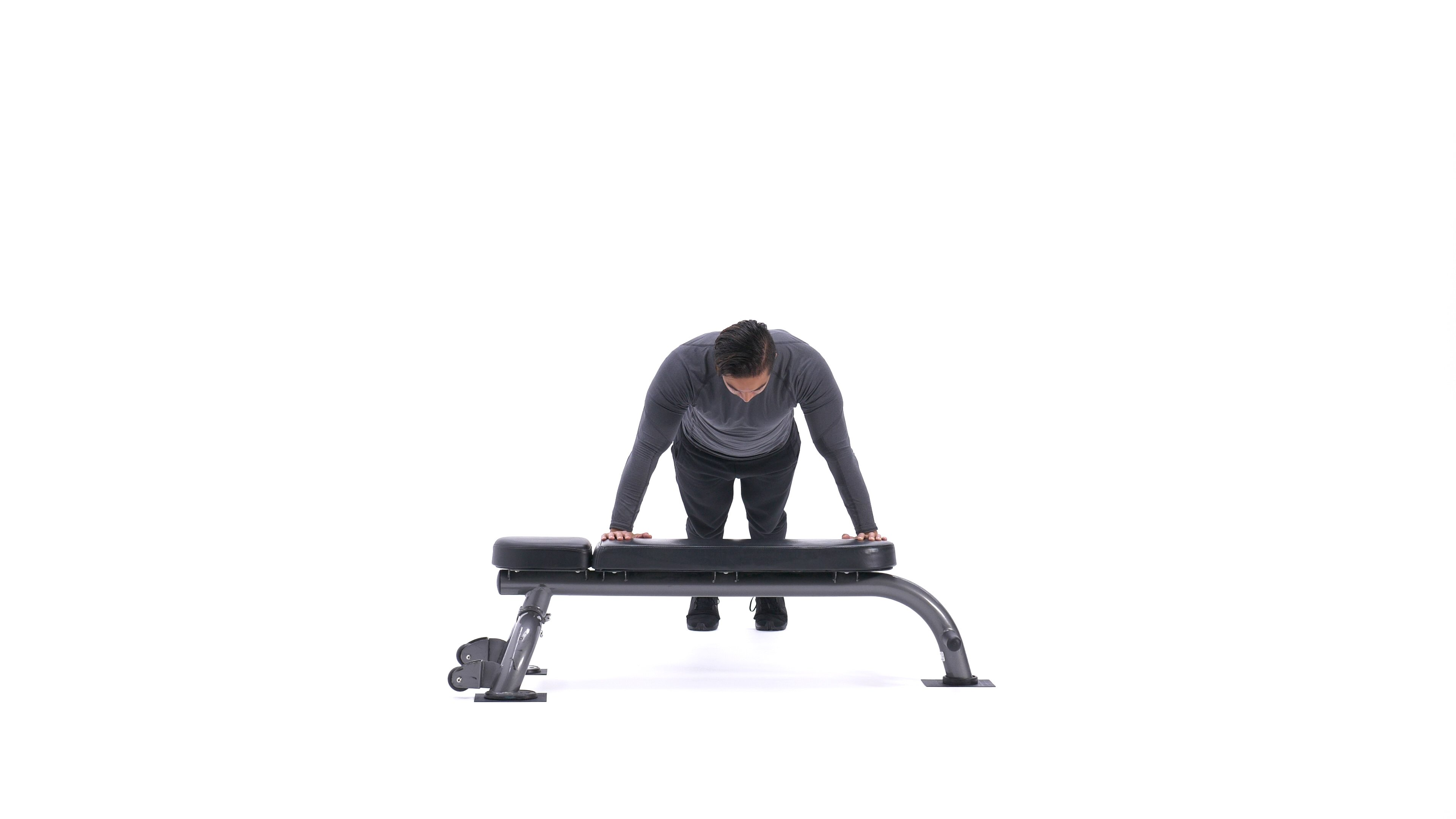 Wide-grip hands-elevated push-up image