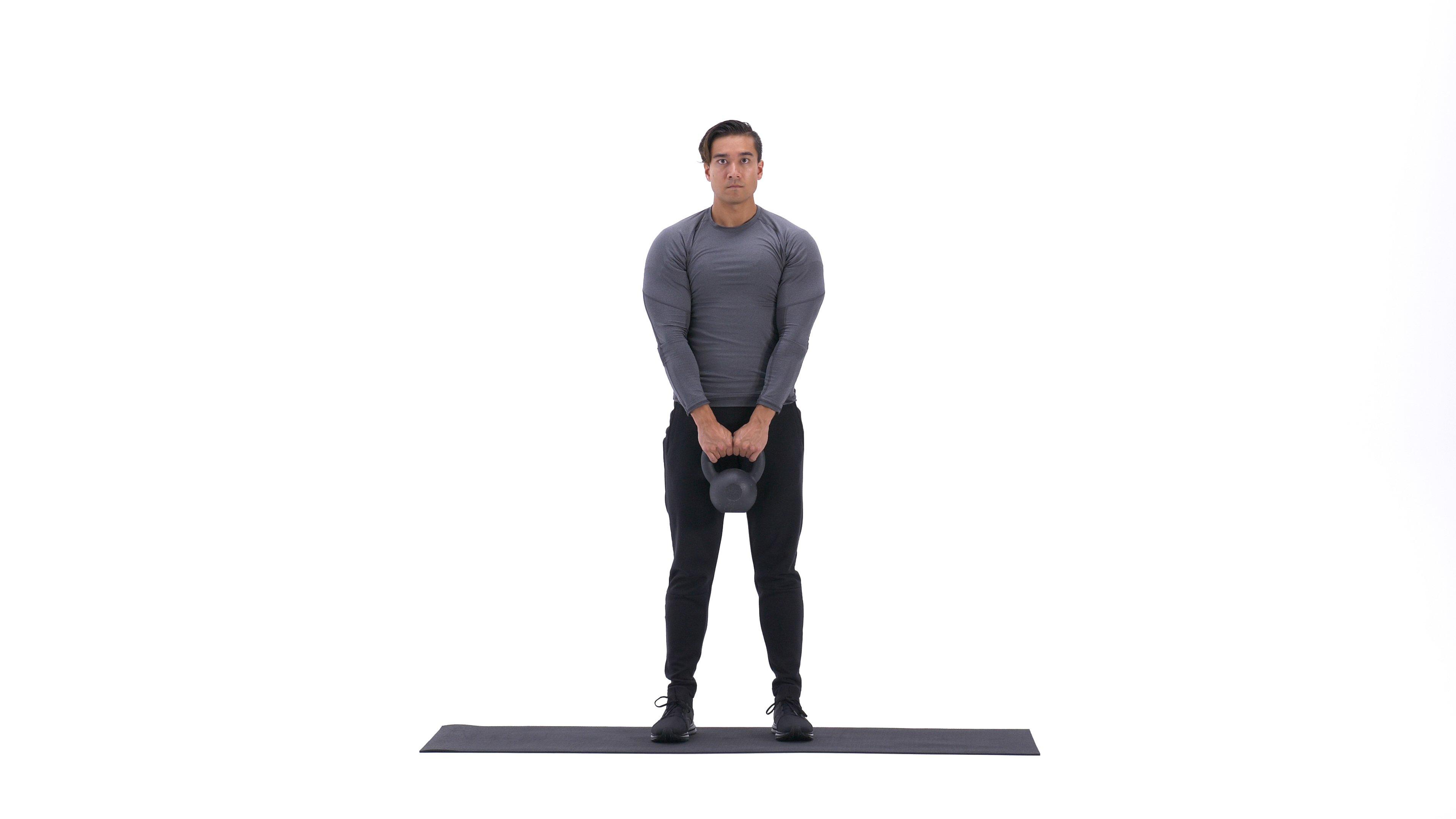 Single-leg kettlebell deadlift image