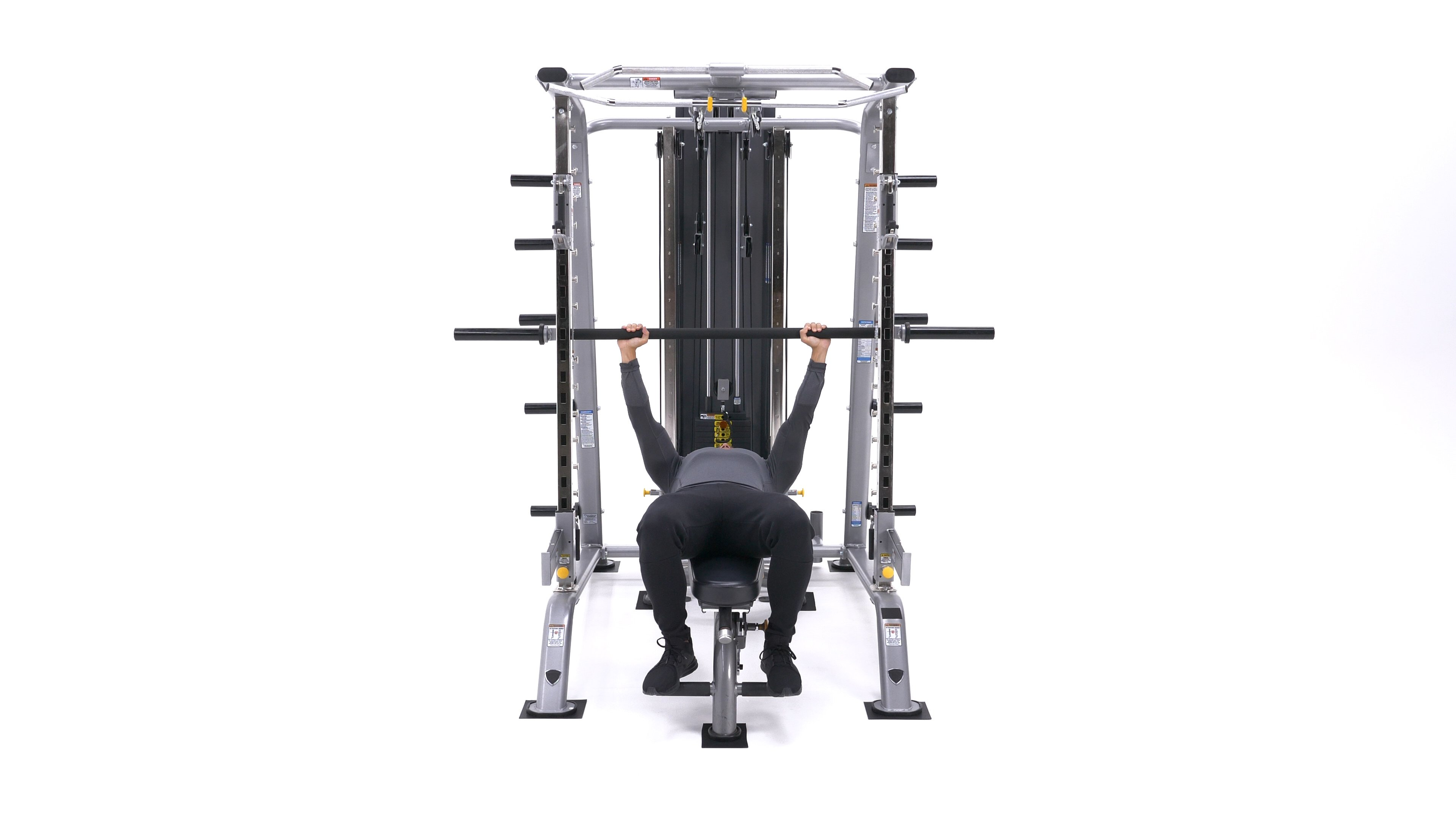 Smith machine bench press image