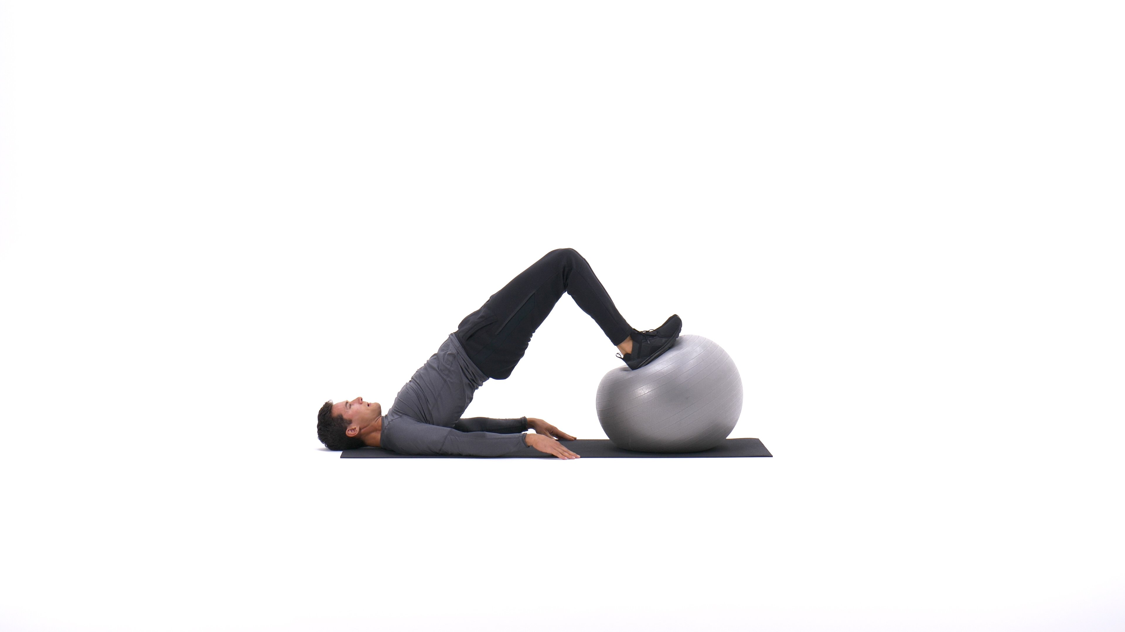 Exercise ball leg curl image