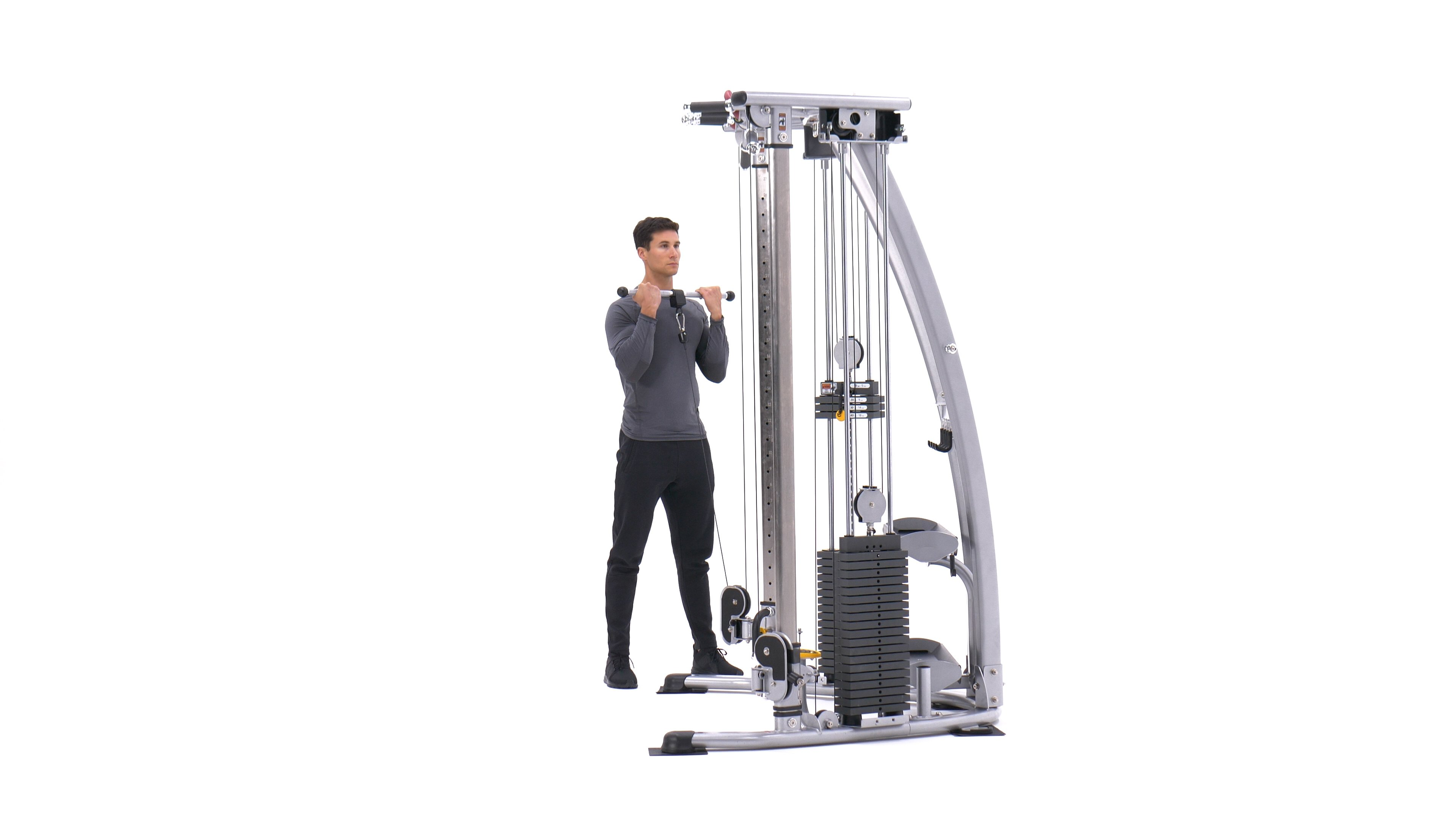 Standing Biceps Cable Curl image