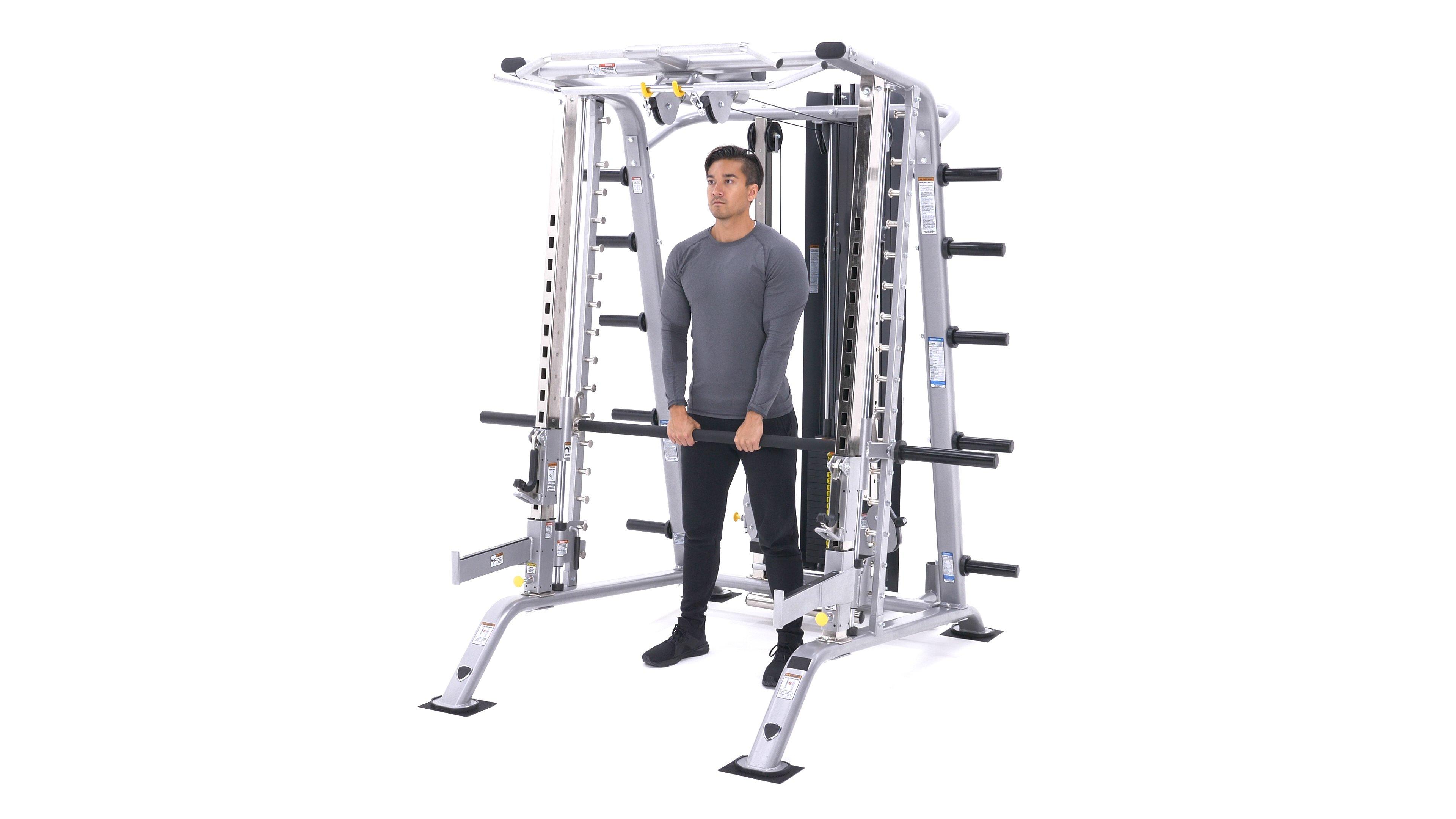 Smith machine upright row image