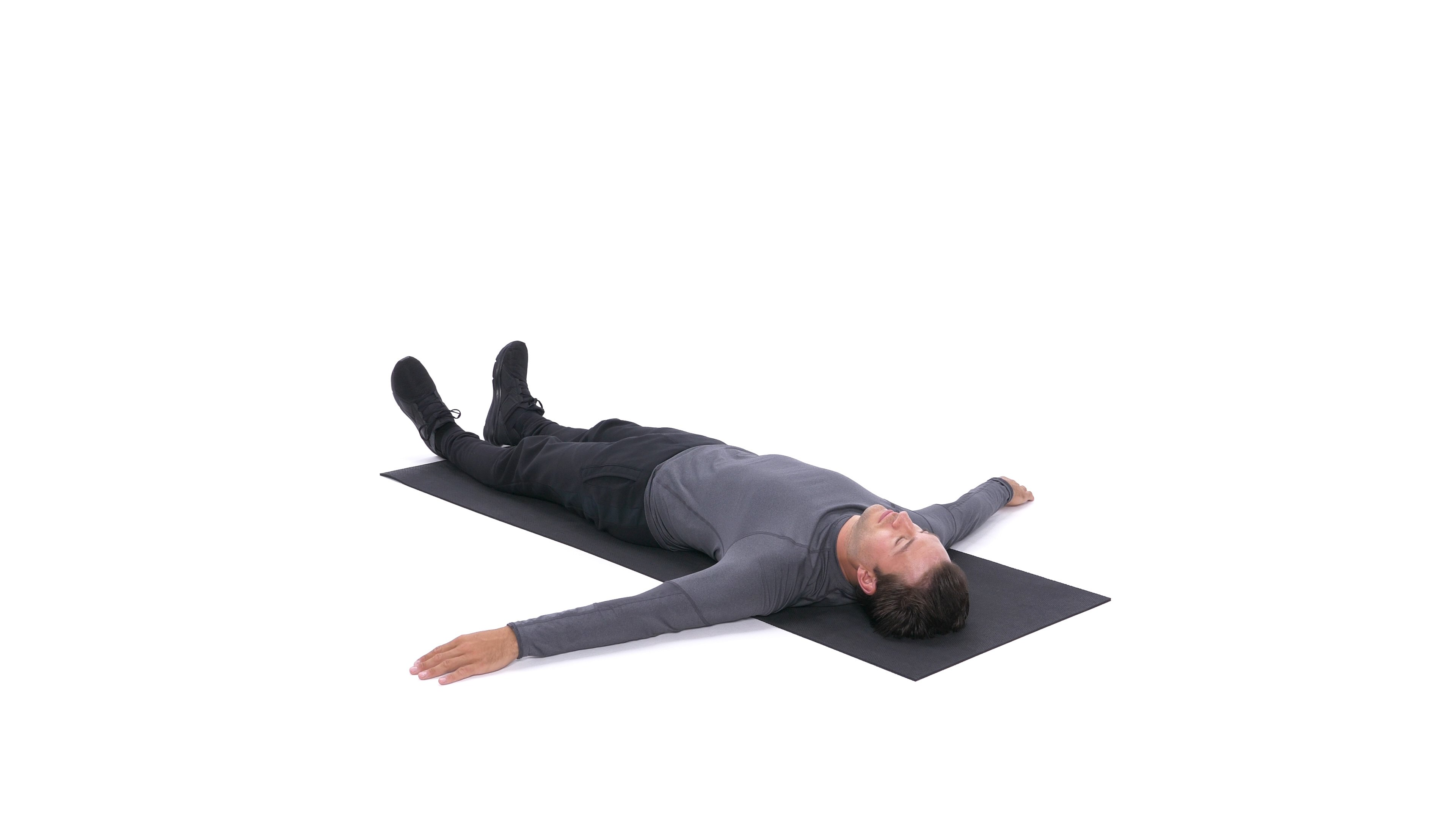 Single-leg lying cross-over stretch image