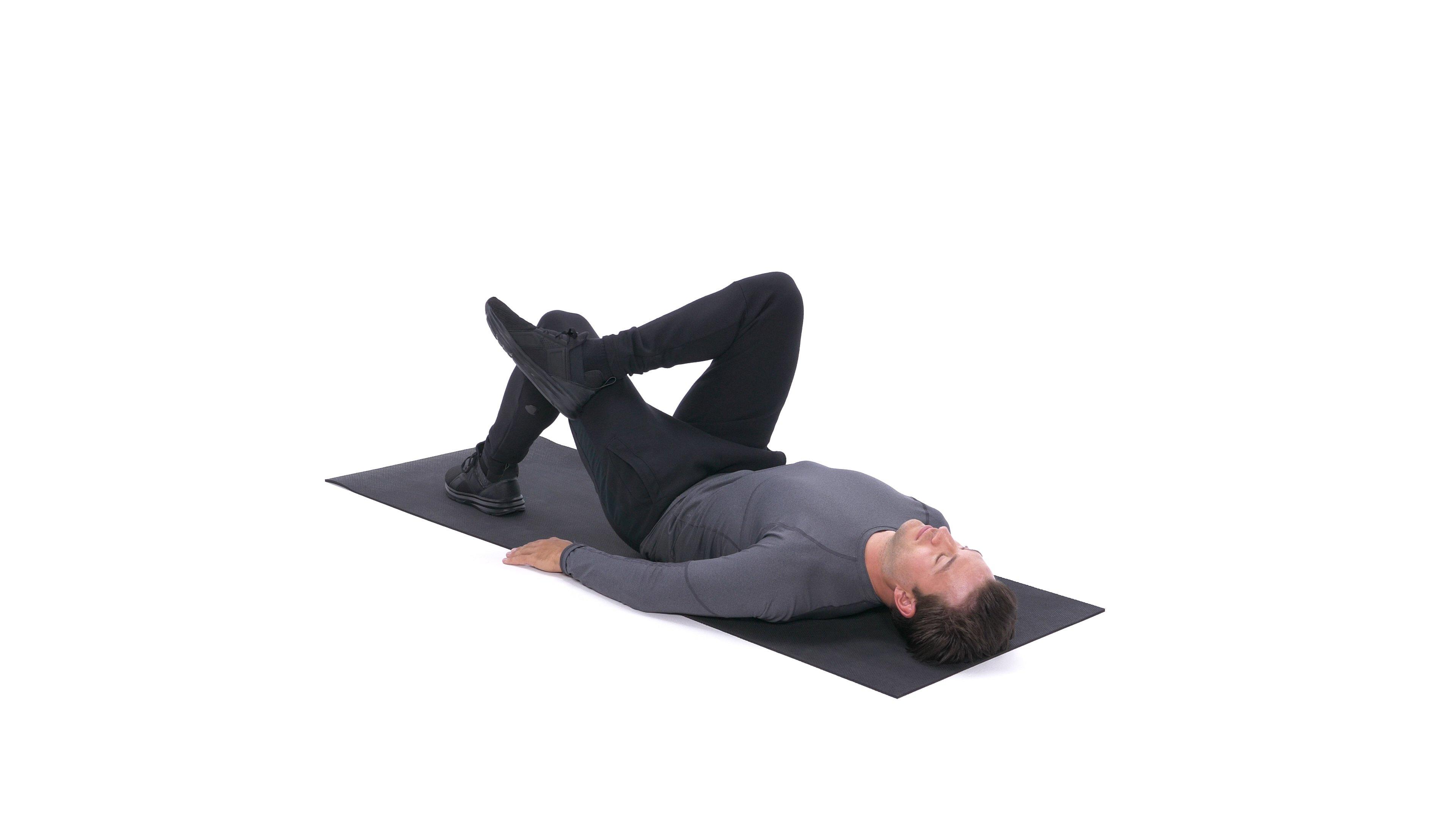 Lying glute stretch image
