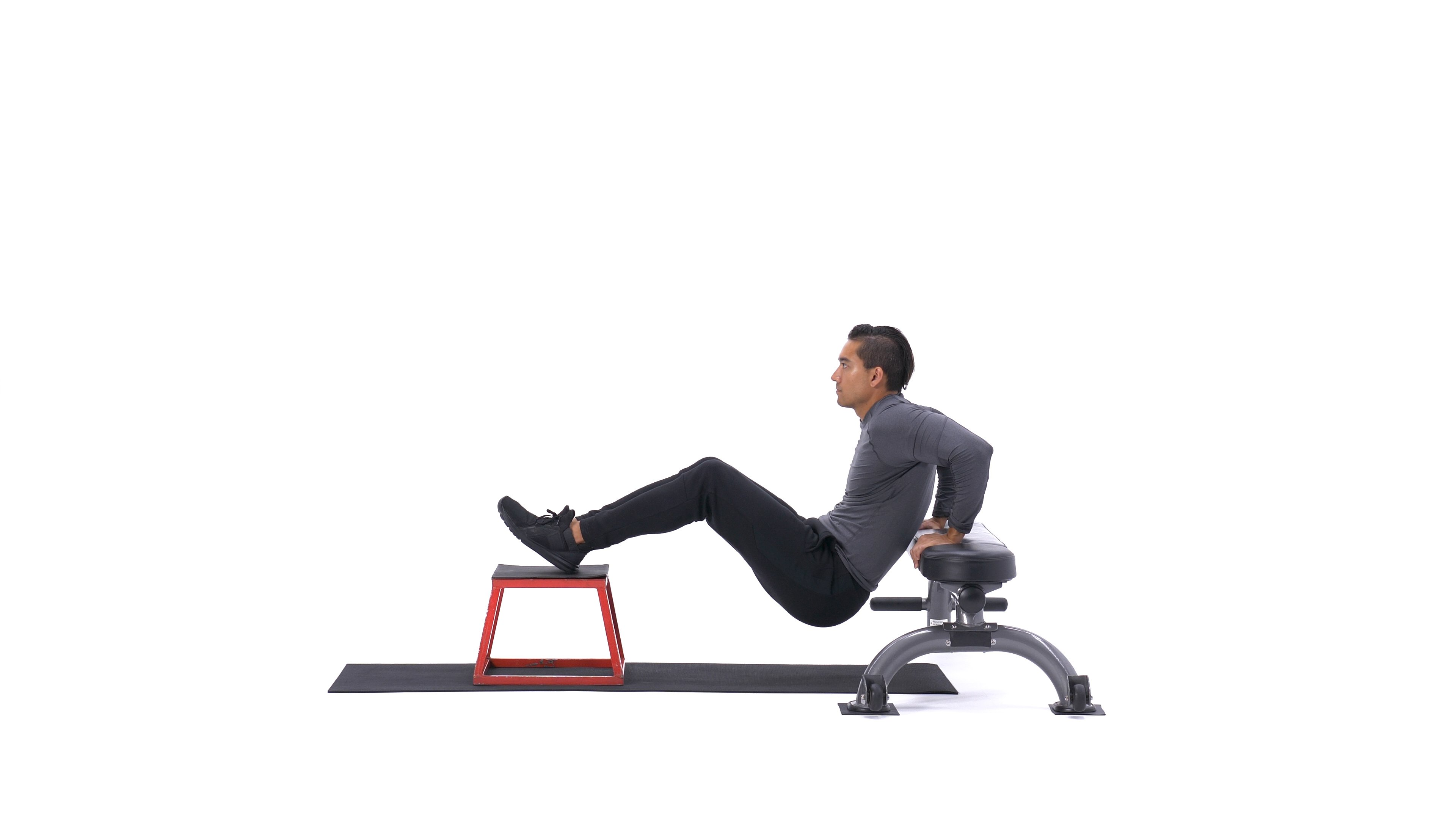 Feet-elevated bench dip image