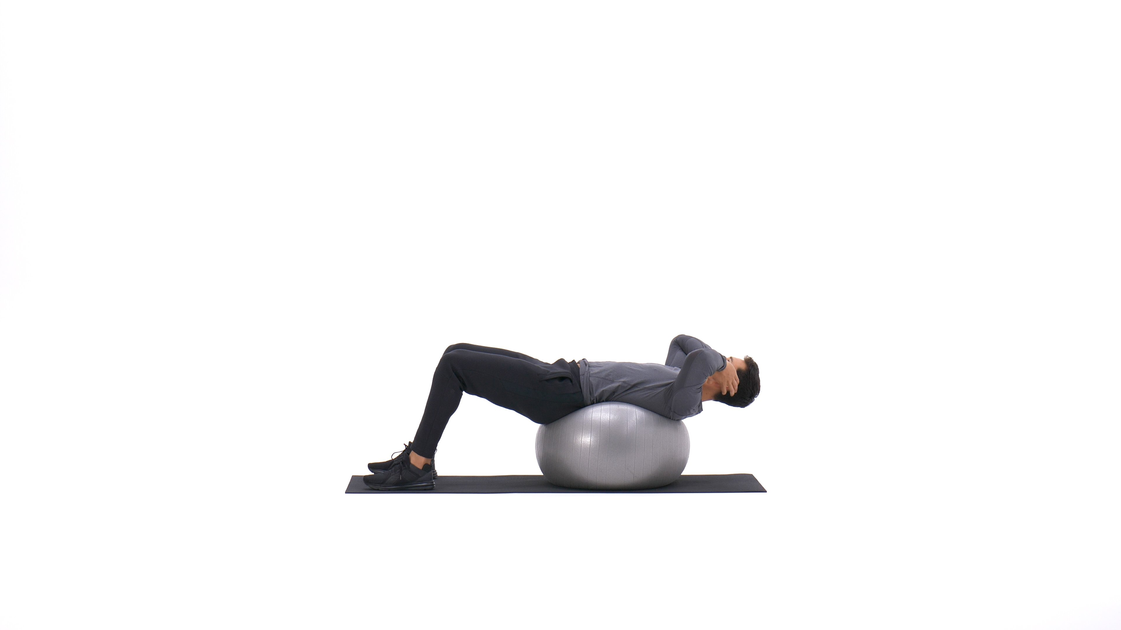 Exercise ball crunch image