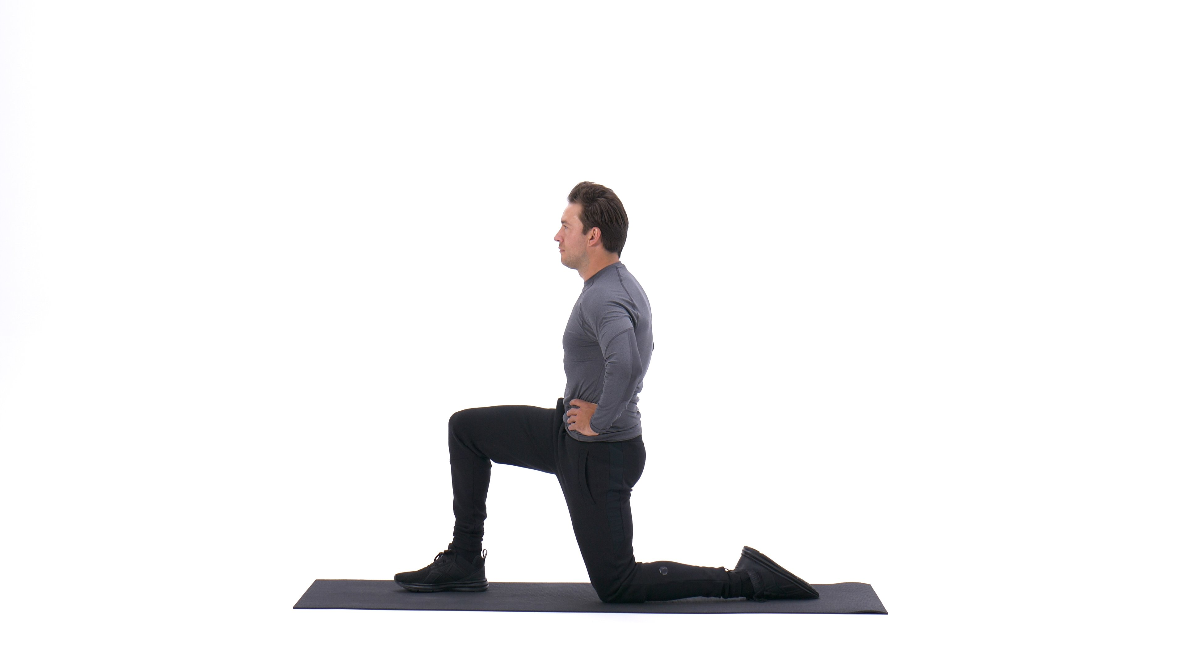 Kneeling hip flexor stretch image