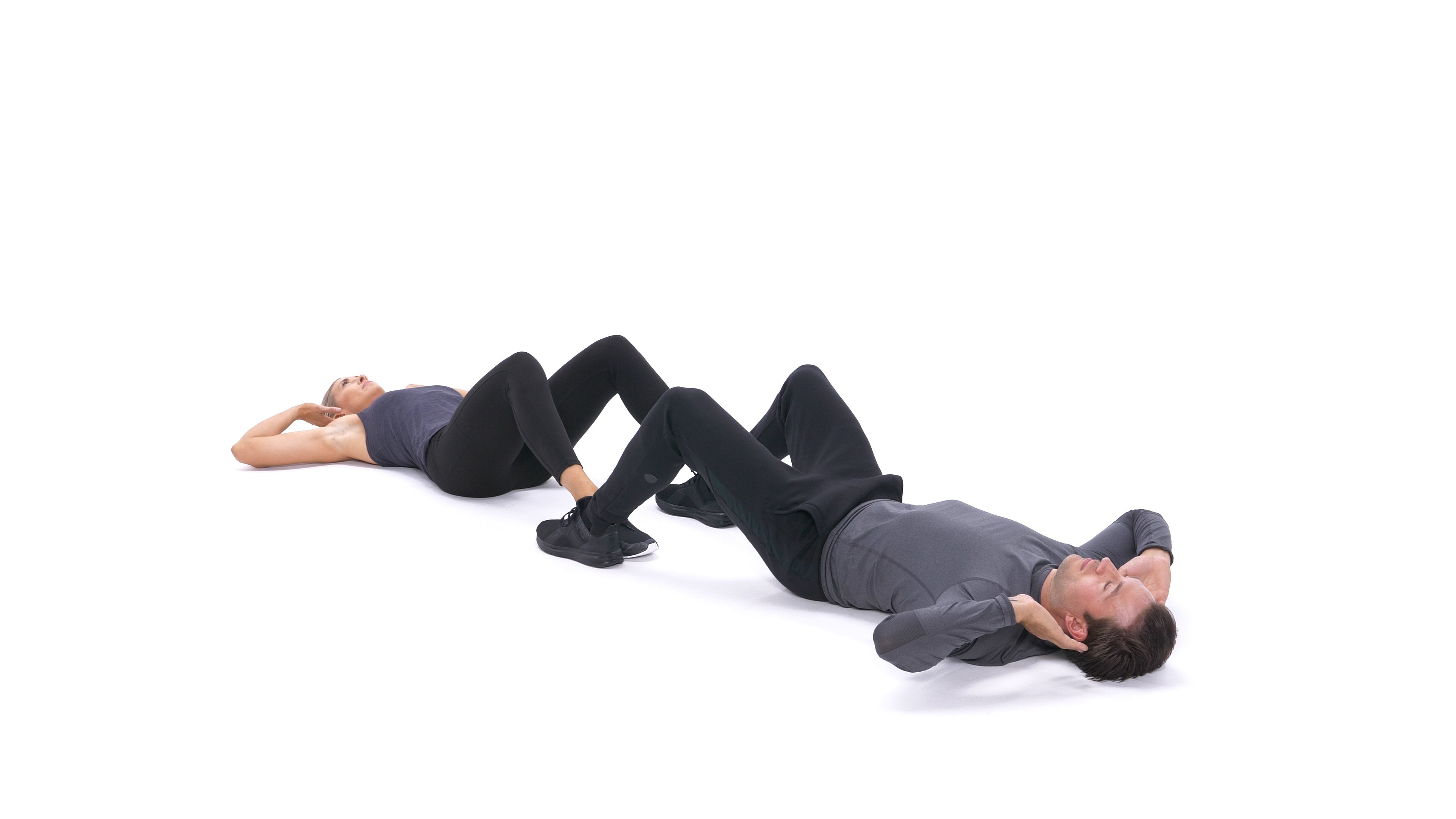 Partner sit-up with high-five image