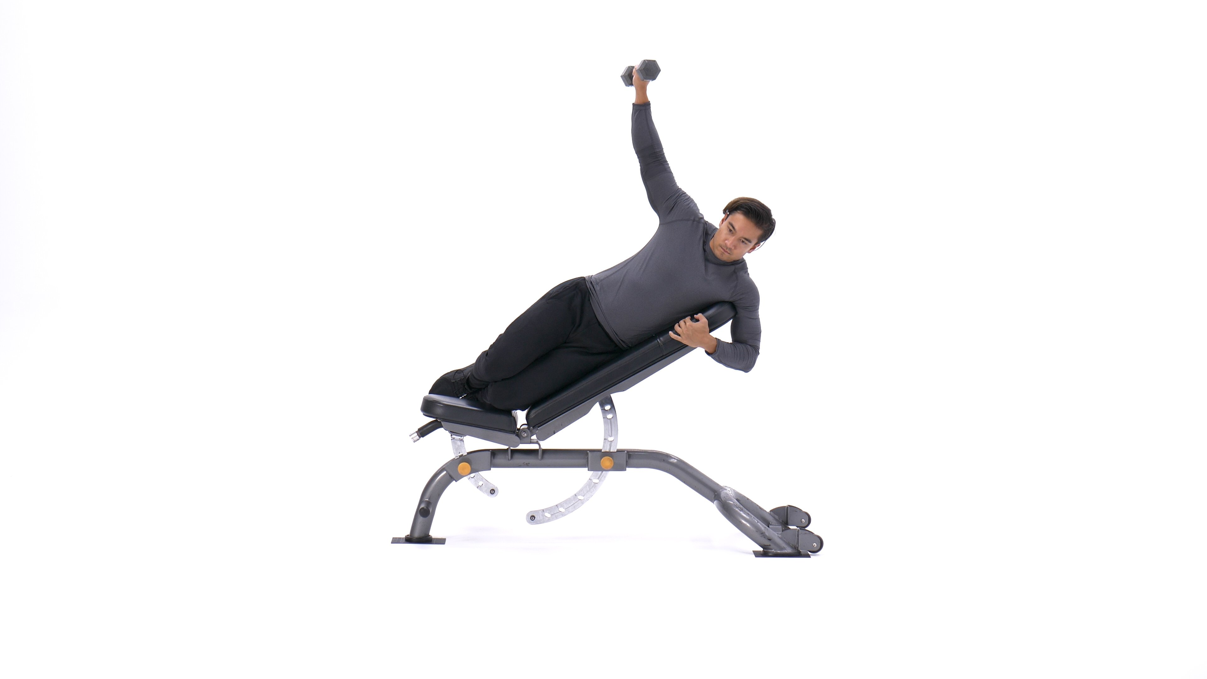 Single-arm incline lateral raise- image