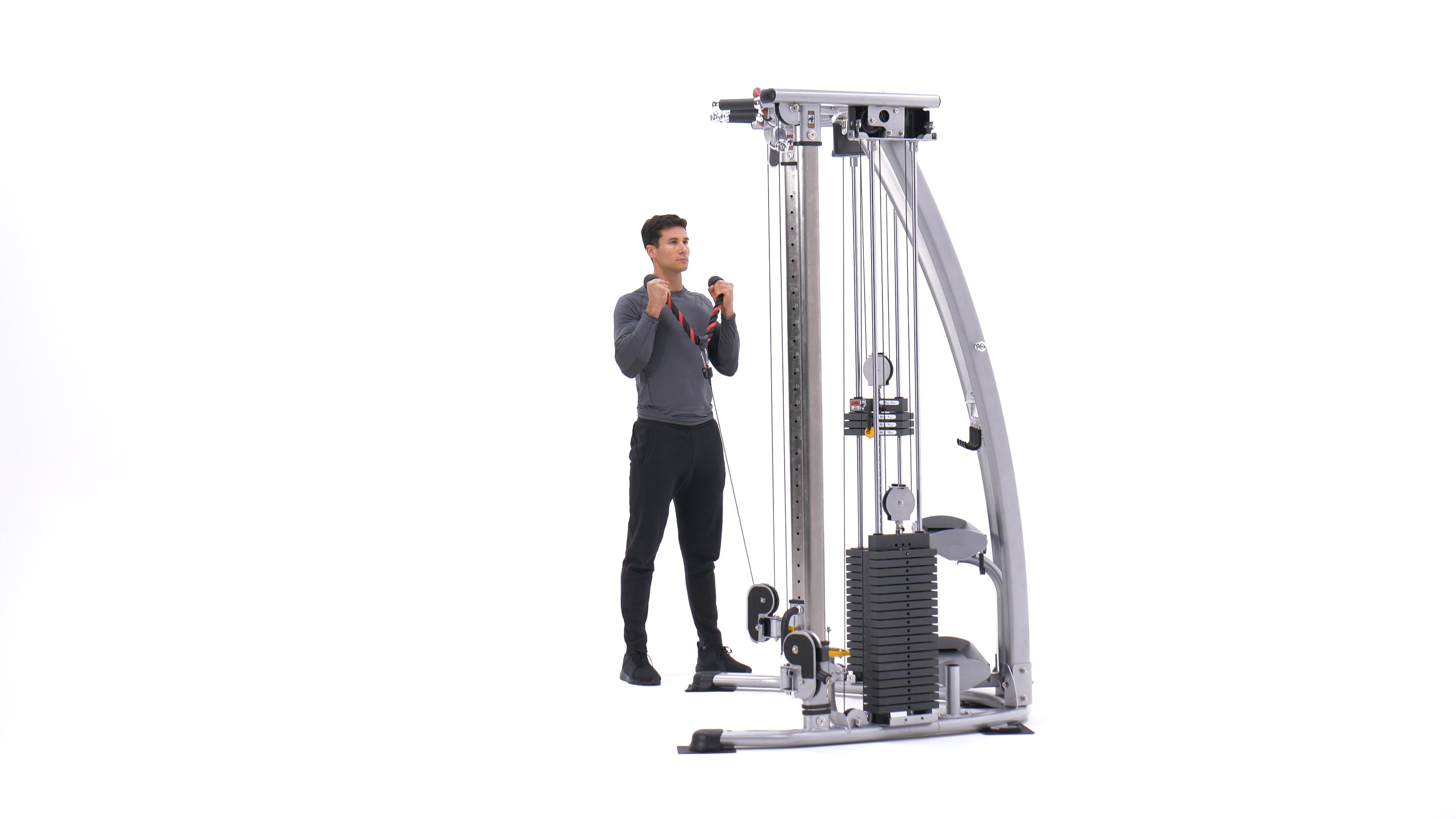 Cable Hammer Curls - Rope Attachment image