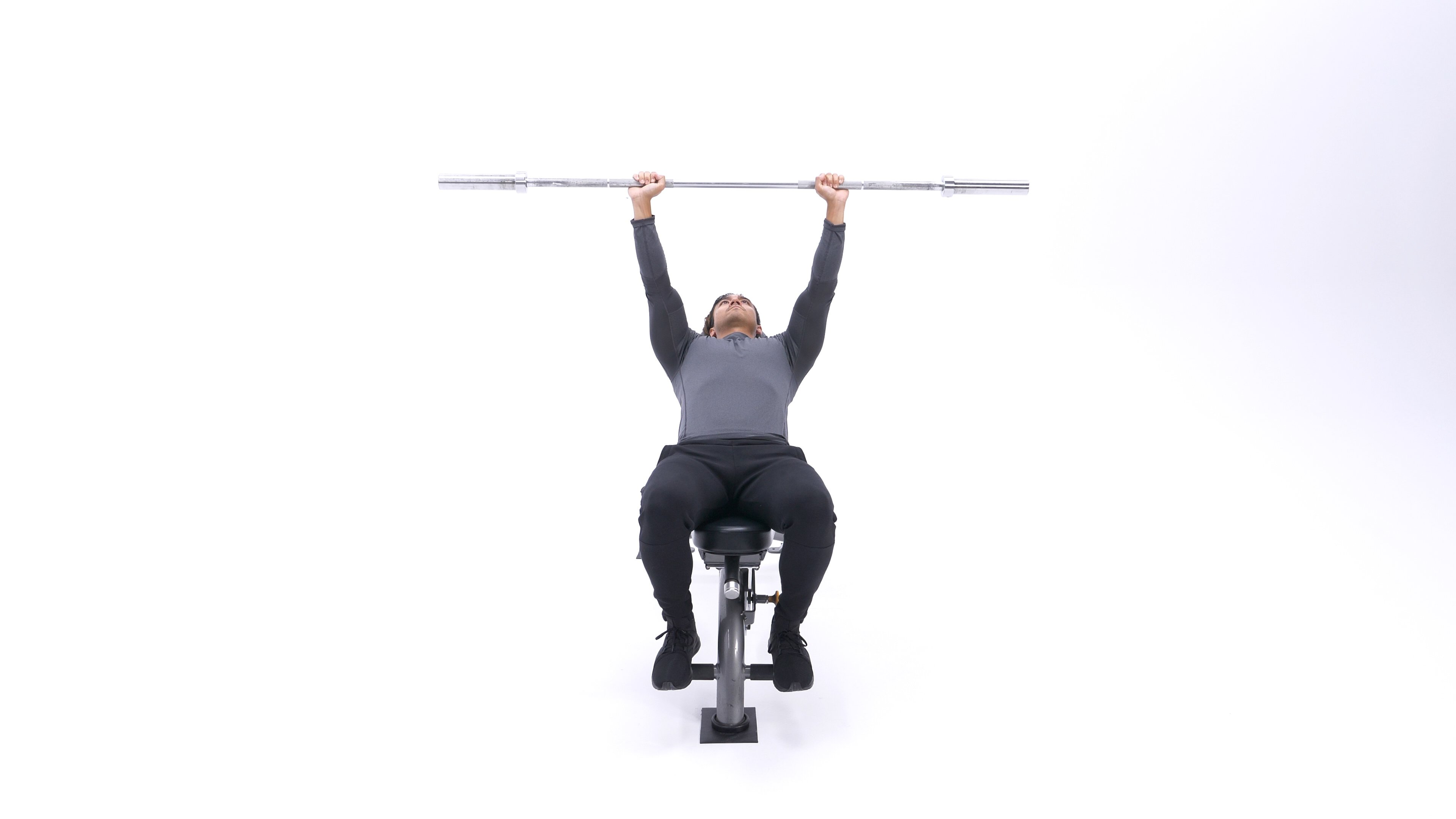 Incline barbell shoulder protraction image