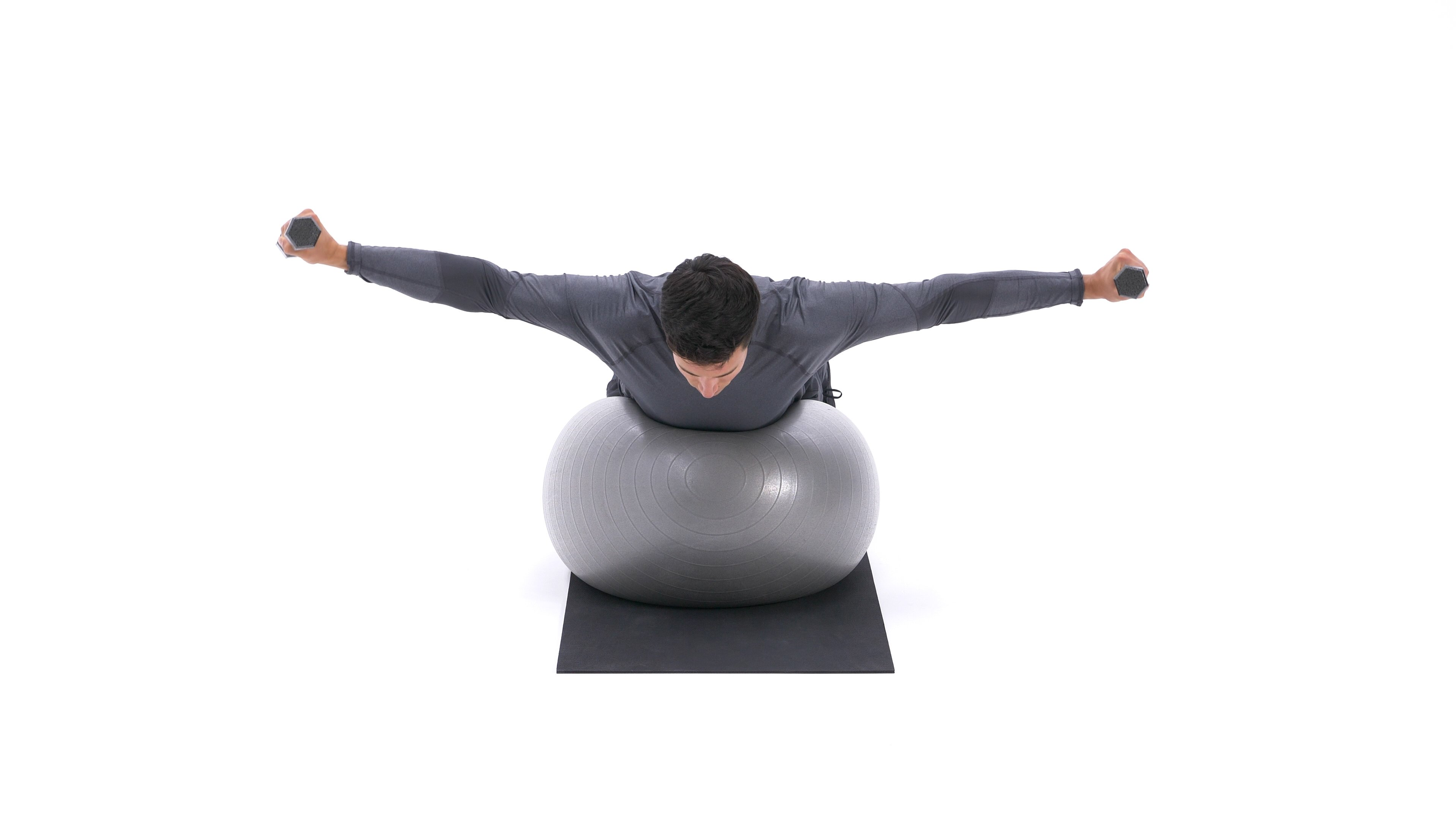 Exercise ball rear delt fly image