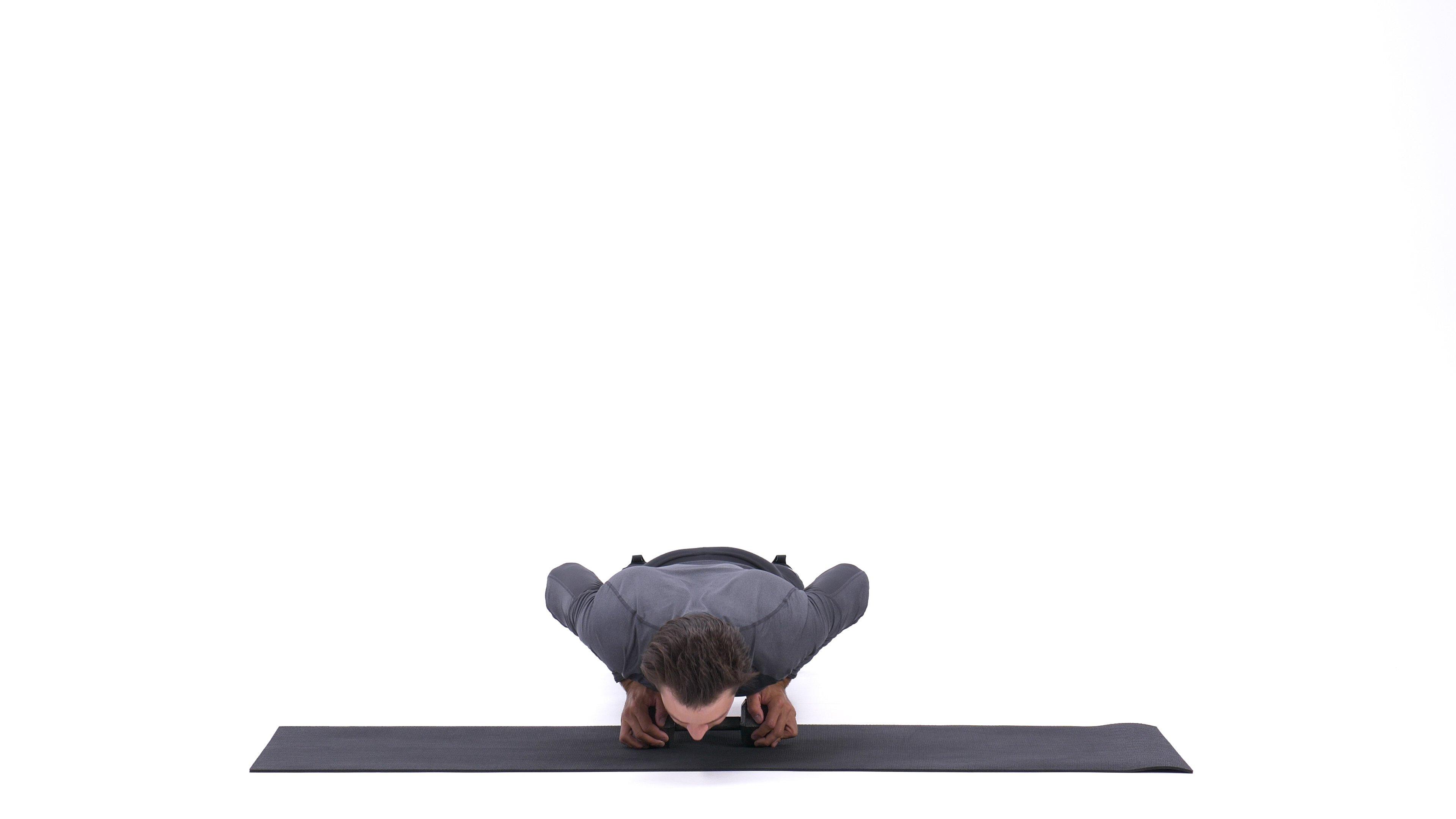 Single-dumbbell push-up image