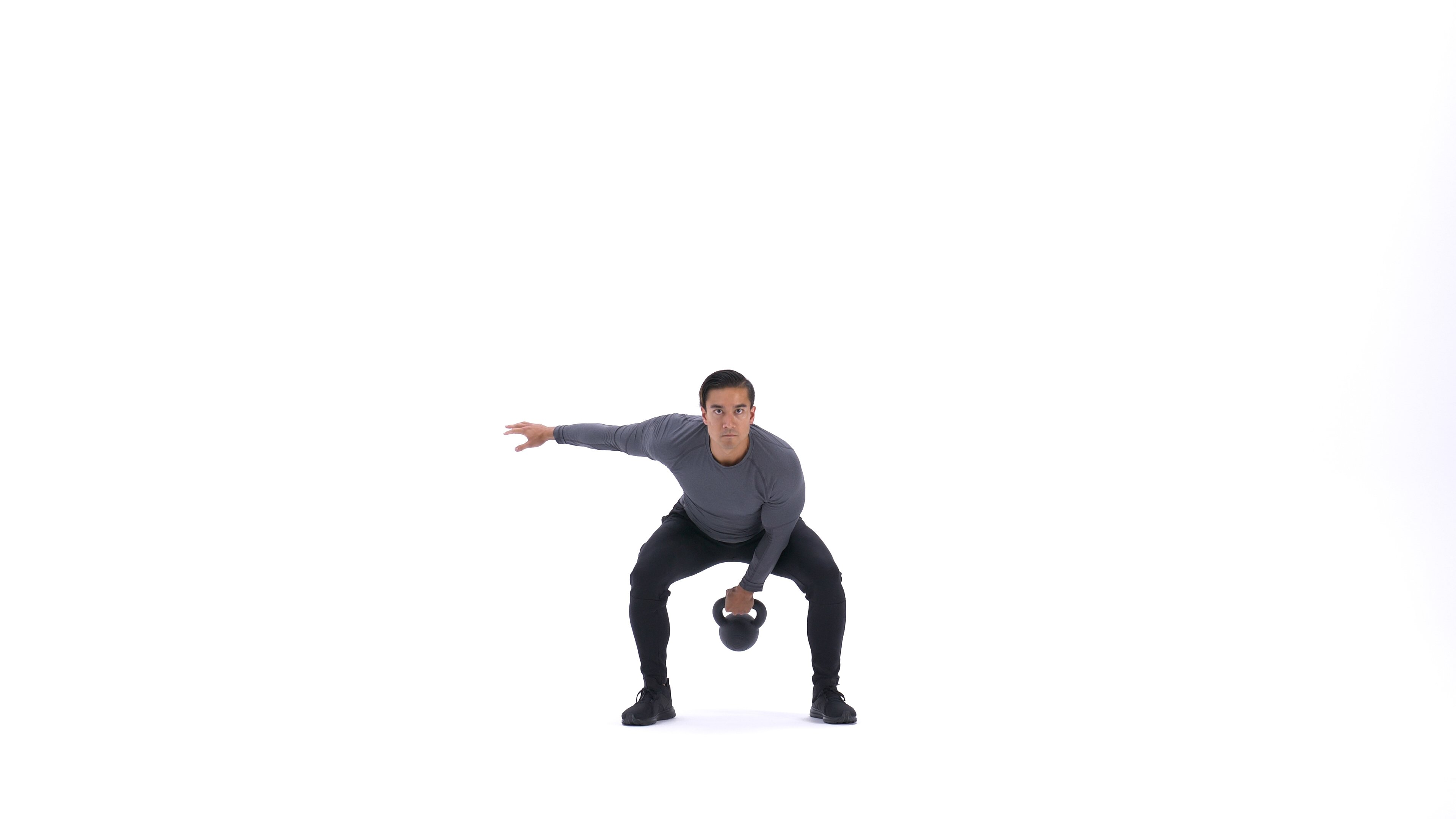 Single-arm kettlebell swing image