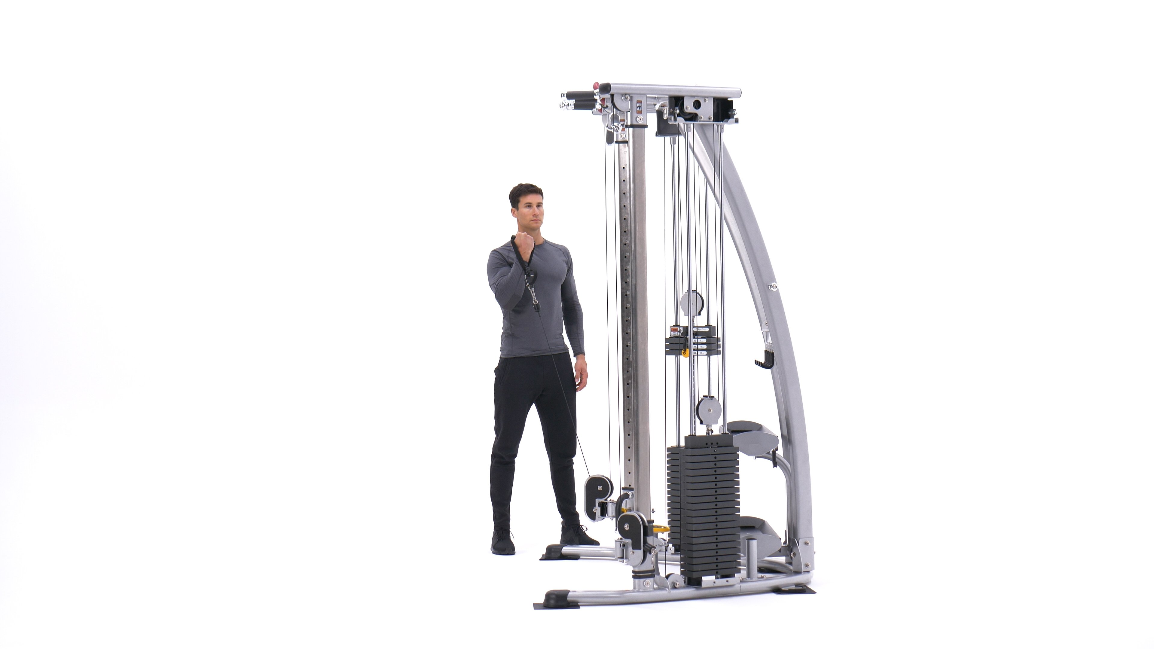 Standing One-Arm Cable Curl image